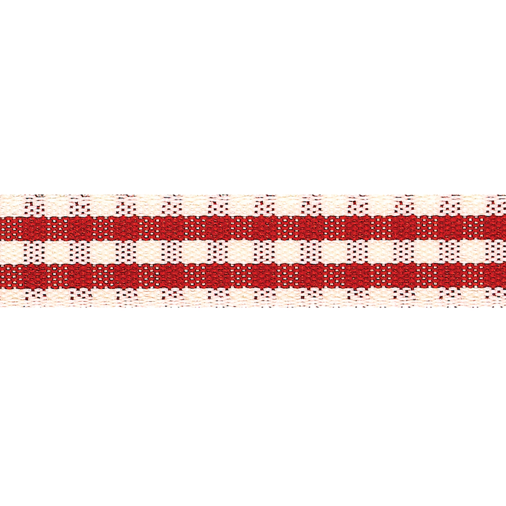 Red Rustic Gingham Ribbon