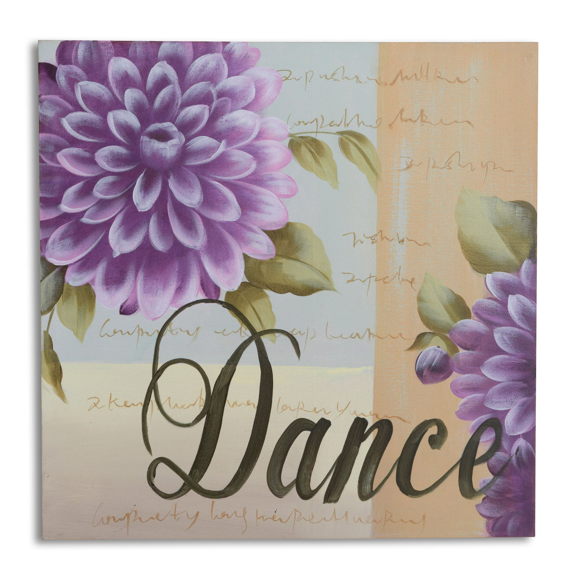 Say It With Words Collection Dance Hand Painted Canvas