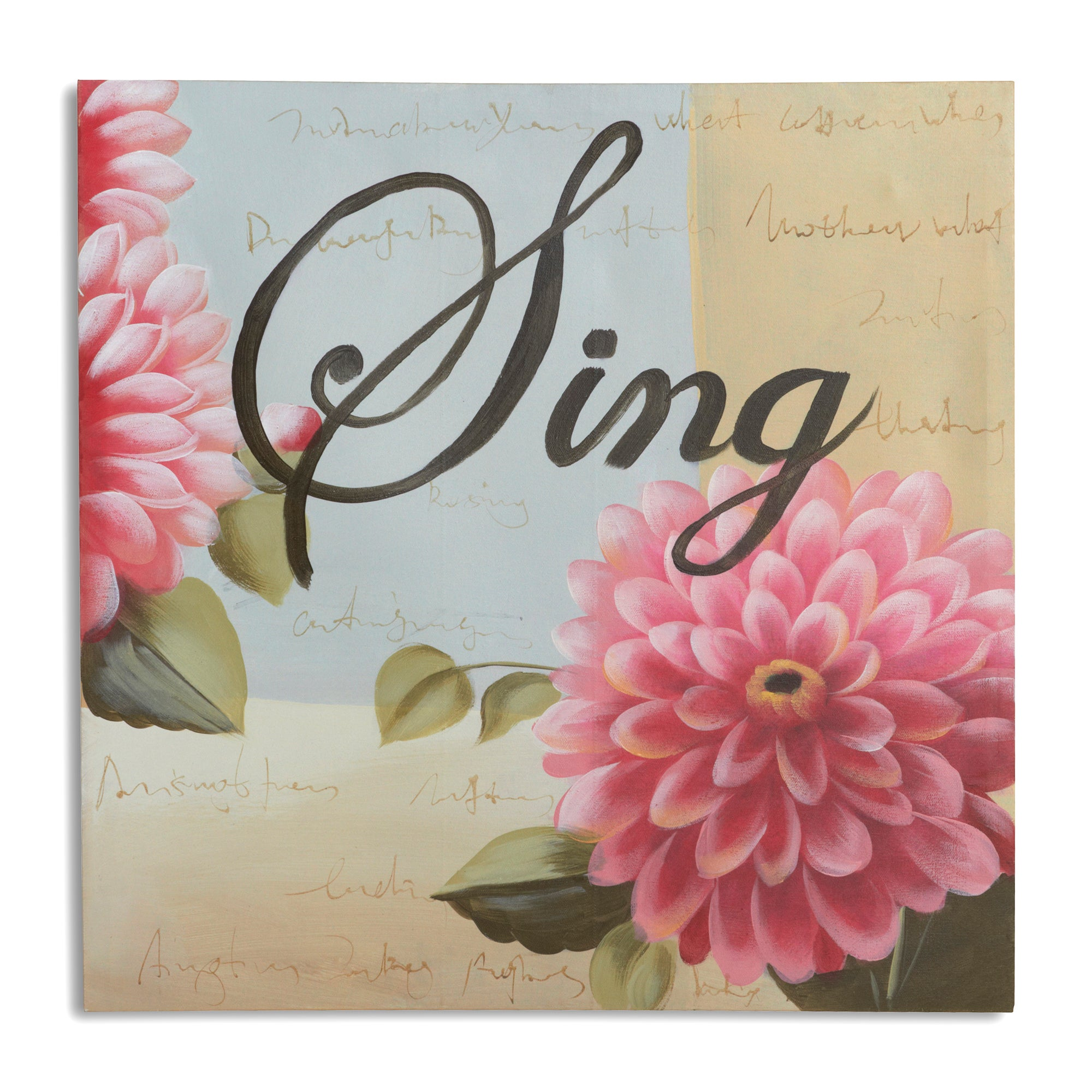 Say It With Words Collection Sing Hand Painted Canvas