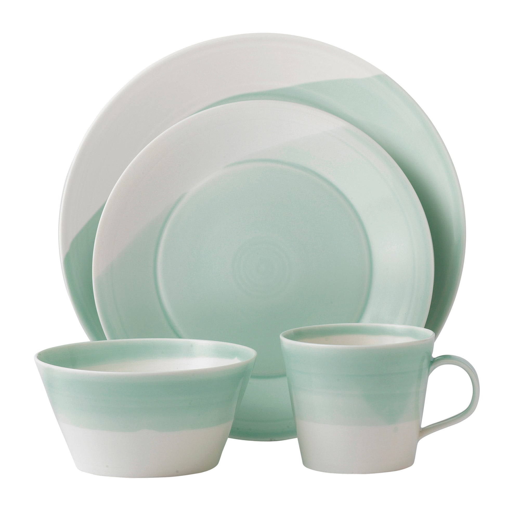 Royal Doulton Green 1815 Collection 16 Piece Dinner Set