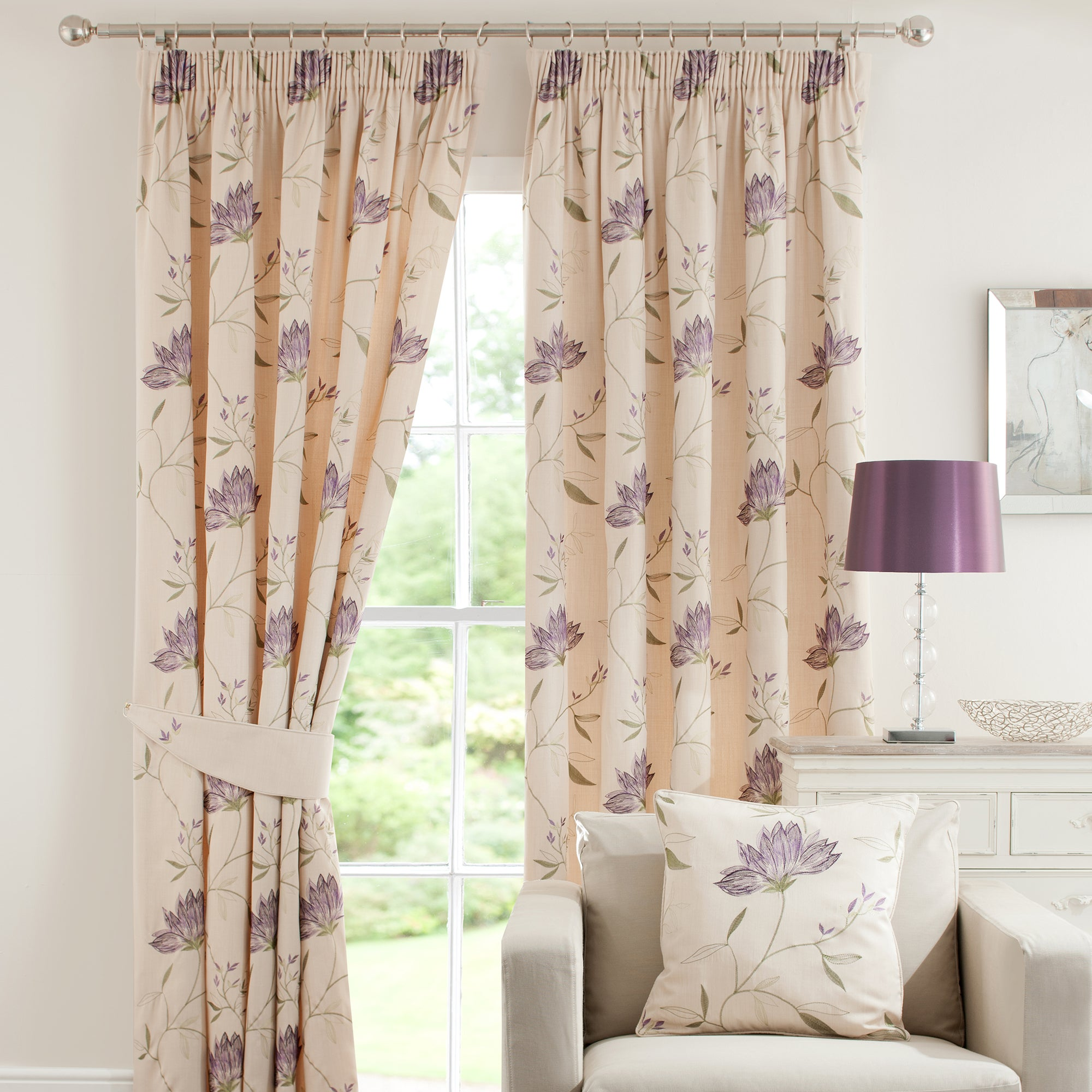 Plum Amelia Curtain Collection