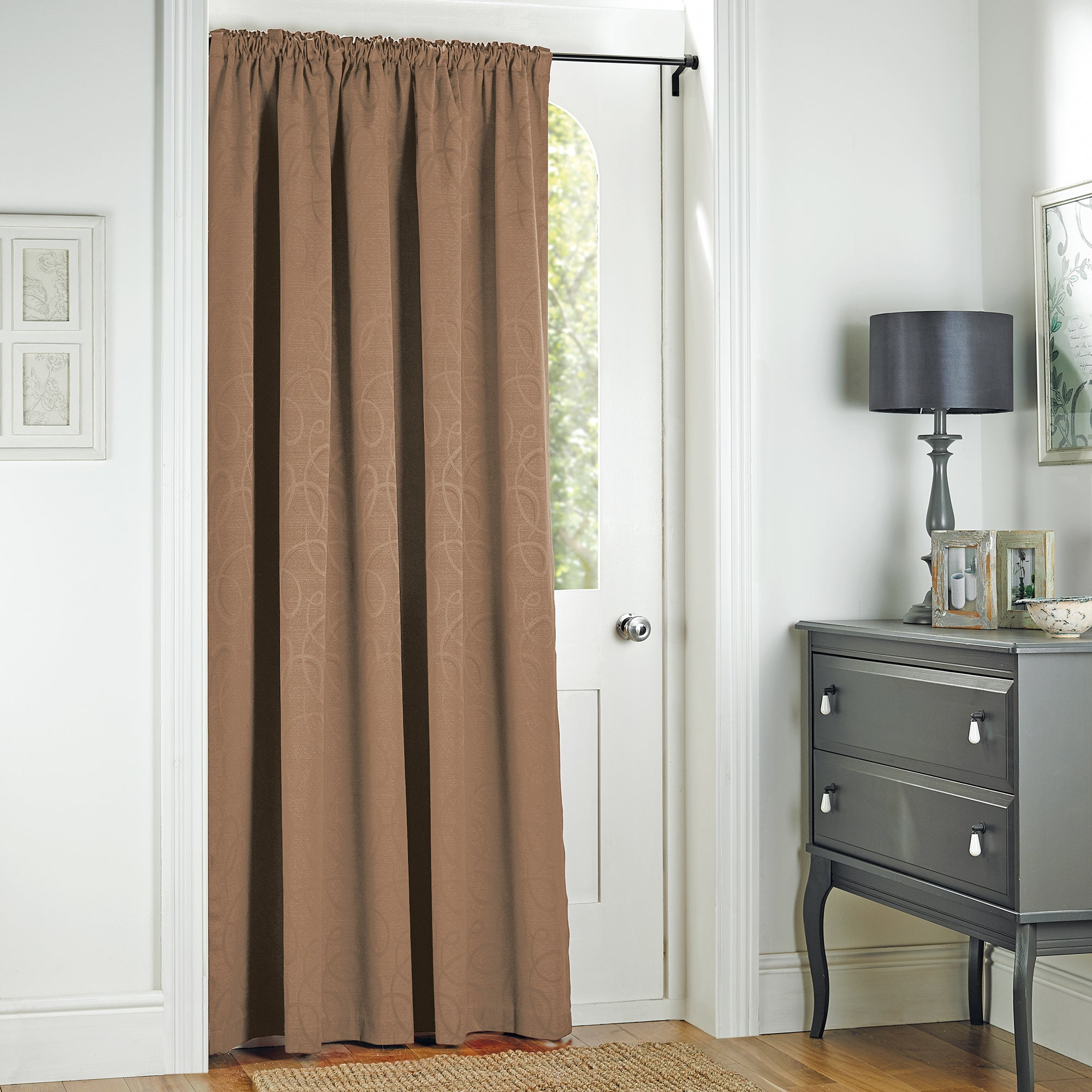 Mocha Toledo Collection Door Curtain