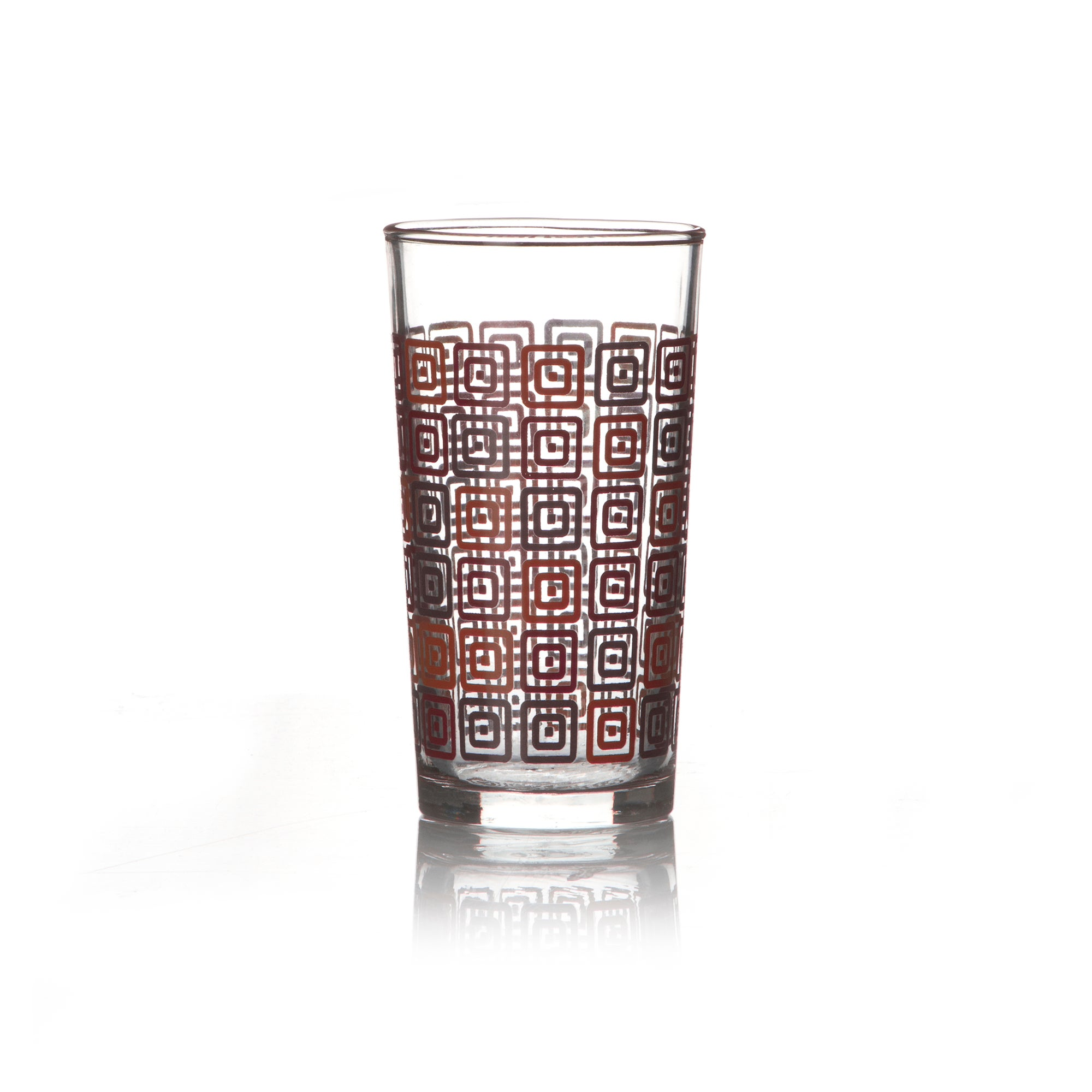 Square Printed Hiball Glass
