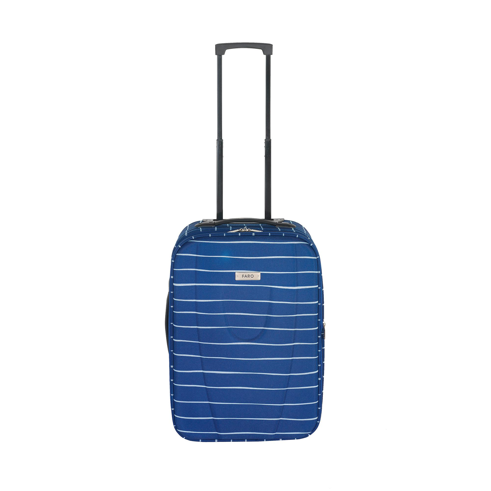 Faro Blue Stripe Small Suitcase