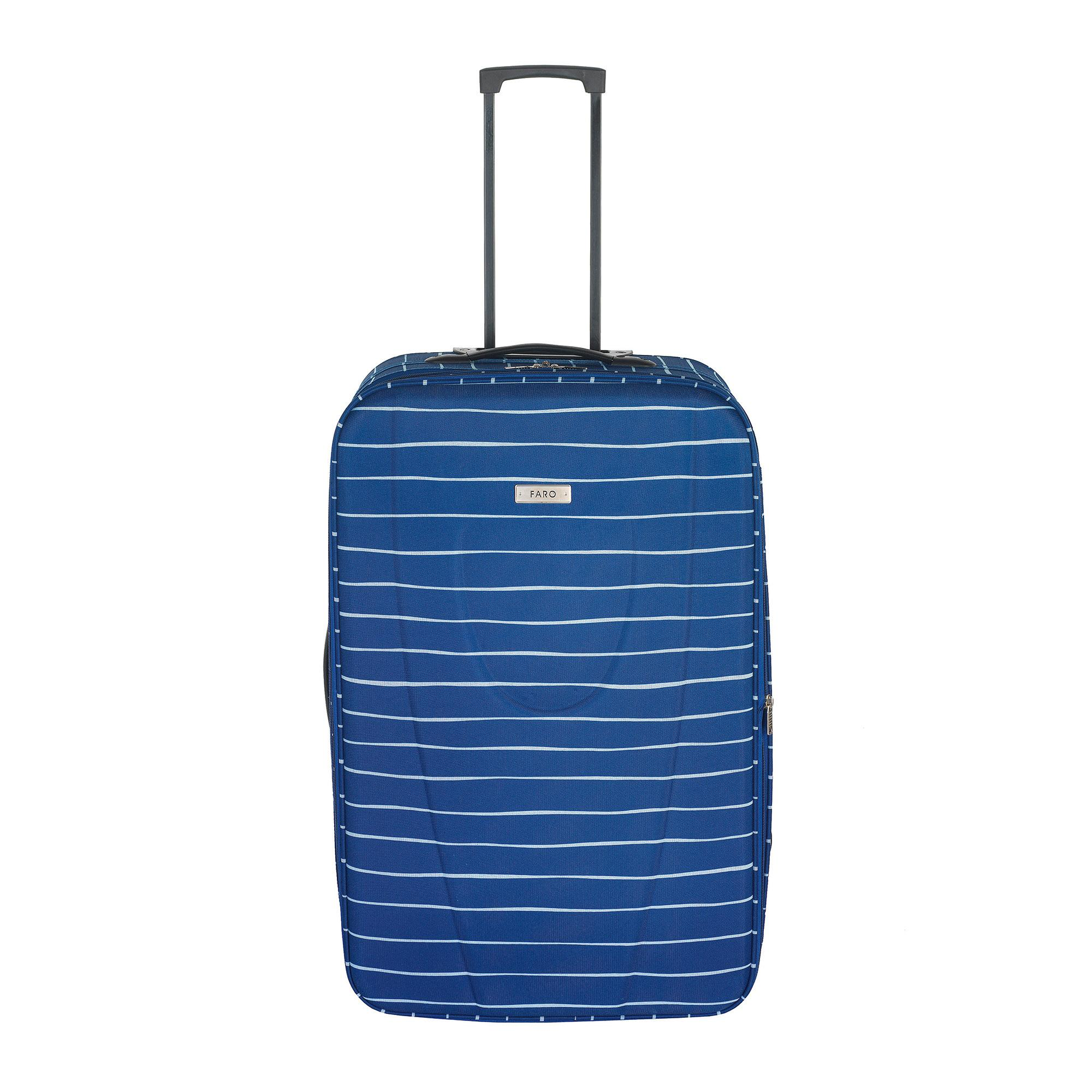 Faro Blue Stripe Large Suitcase
