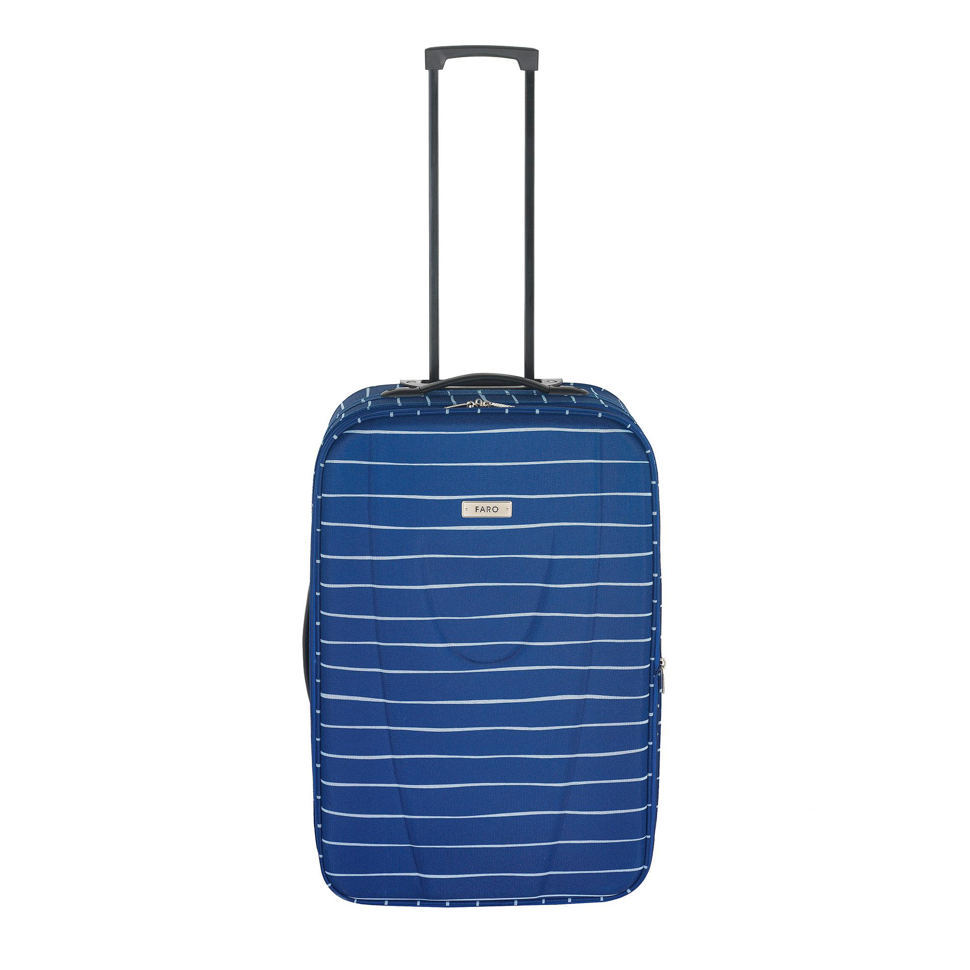 Faro Blue Stripe Medium Suitcase