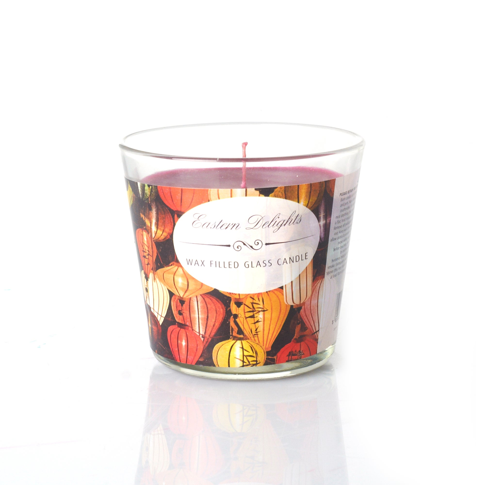 Eastern Delights Wax Filled Glass Candle