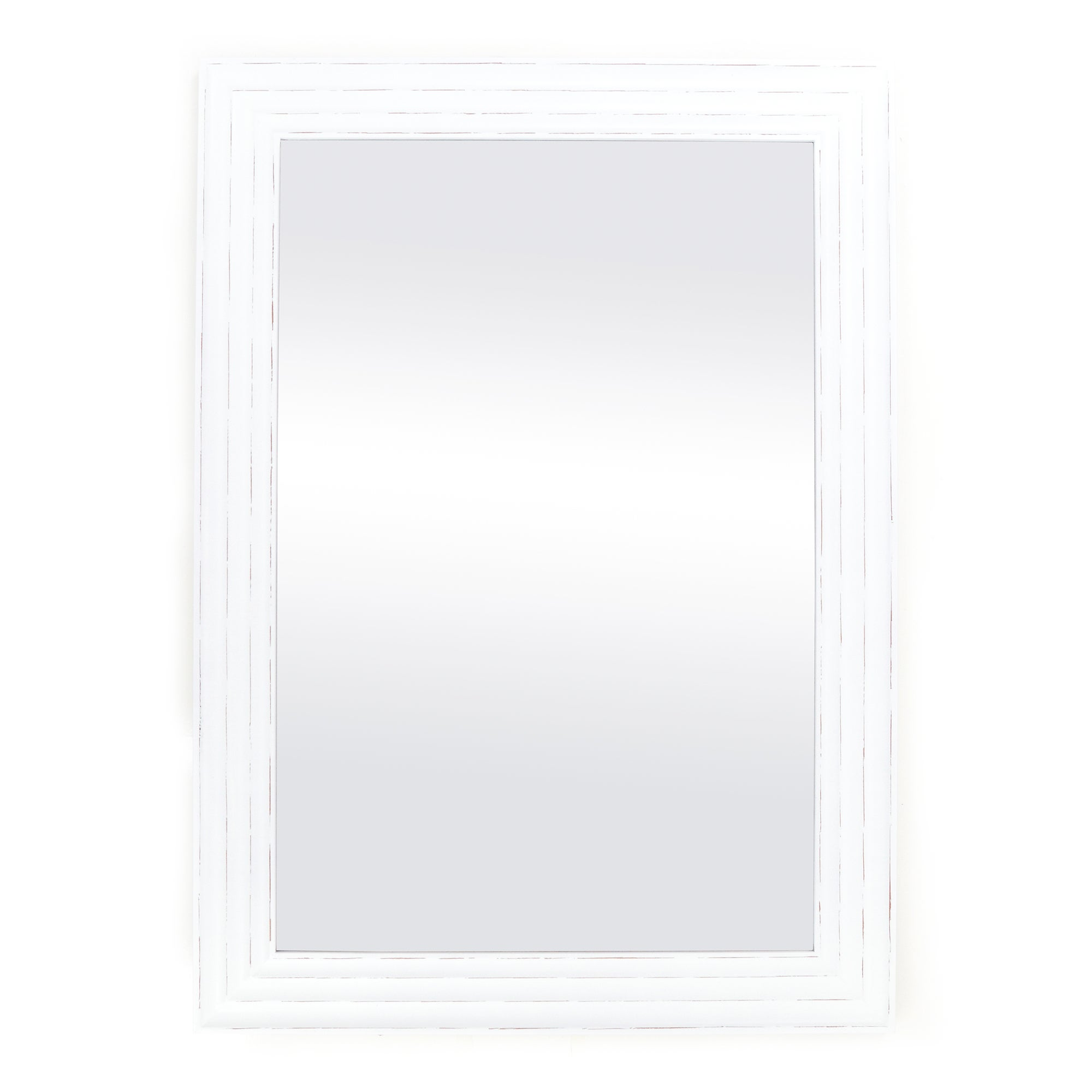 Cream Three Groove Plain Mirror