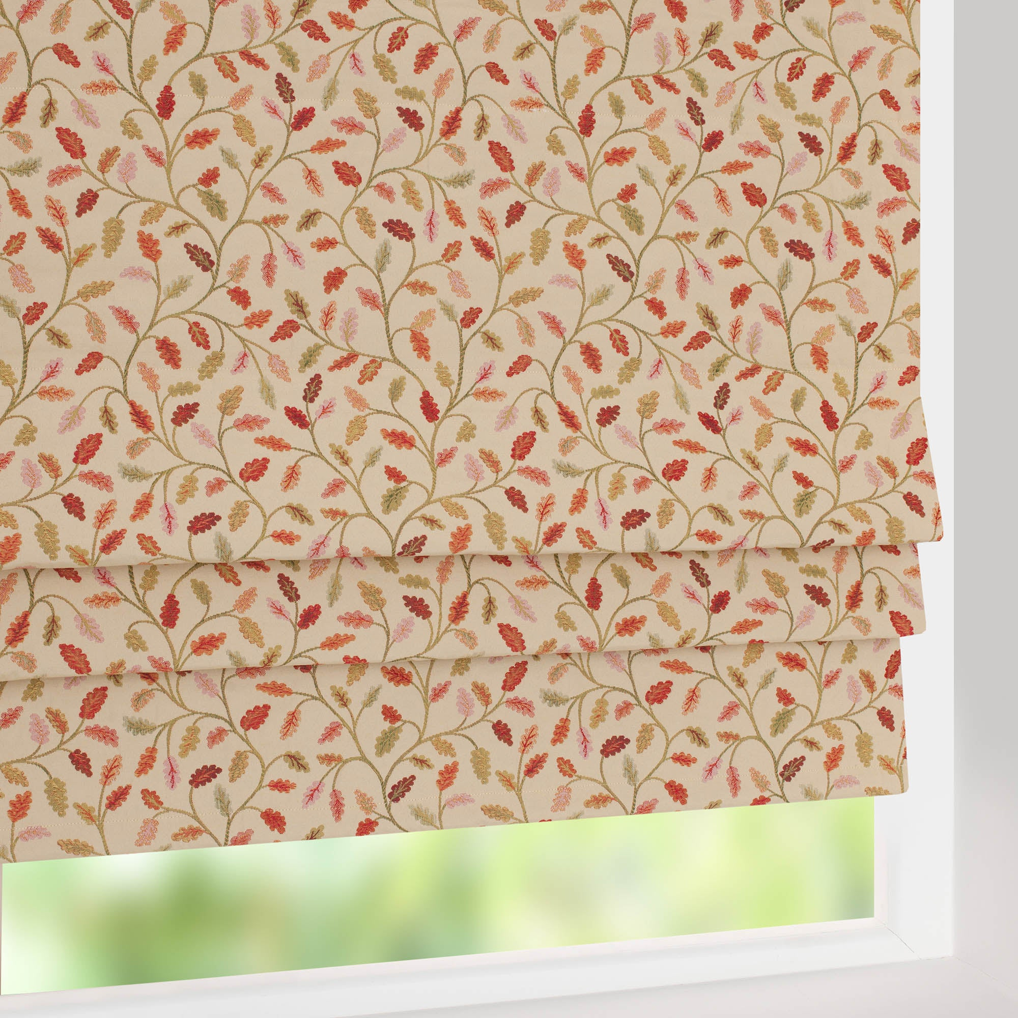 Heritage Terracotta Glava Blackout Roman Blind