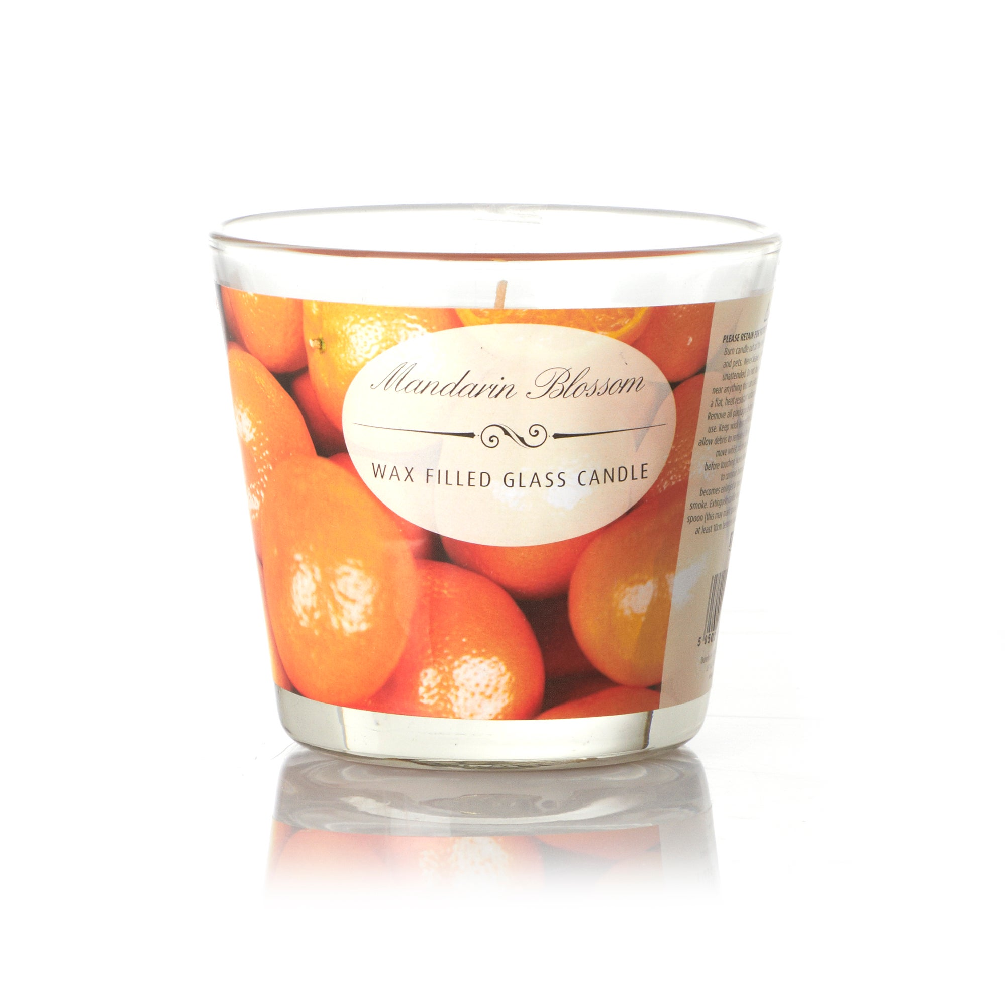 Mandarin Blossom Wax Filled Glass Candle