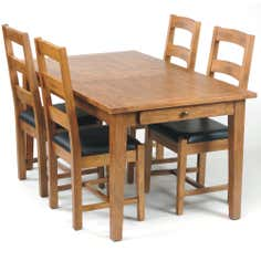 Stamford Rustic Oak Large Extendable Dining Table