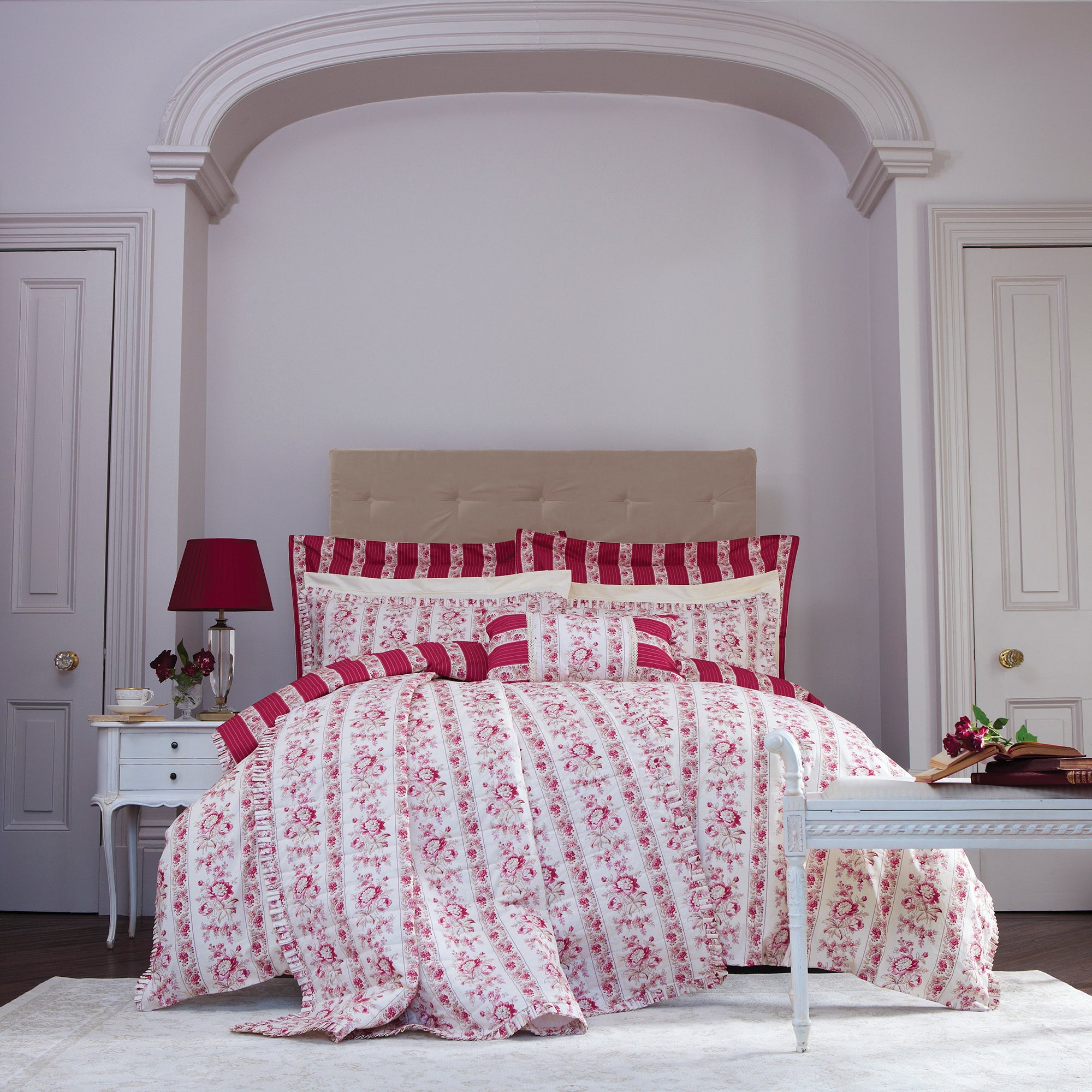 Dorma Red Martha Collection Duvet Cover