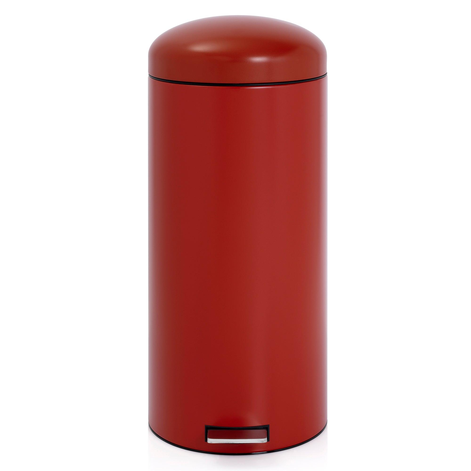 Brabantia Red 30 Litre Retro Pedal Bin