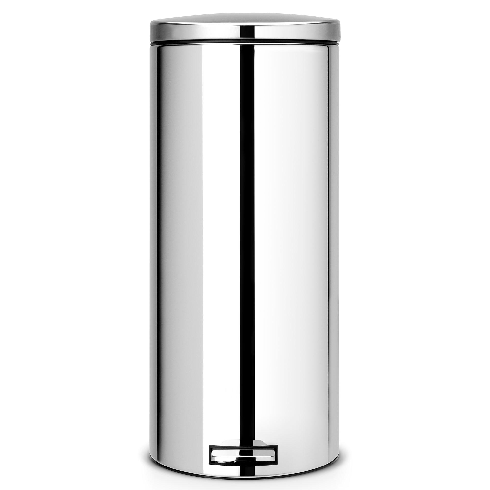 Brabantia Silver 30 Litre Pedal Bin