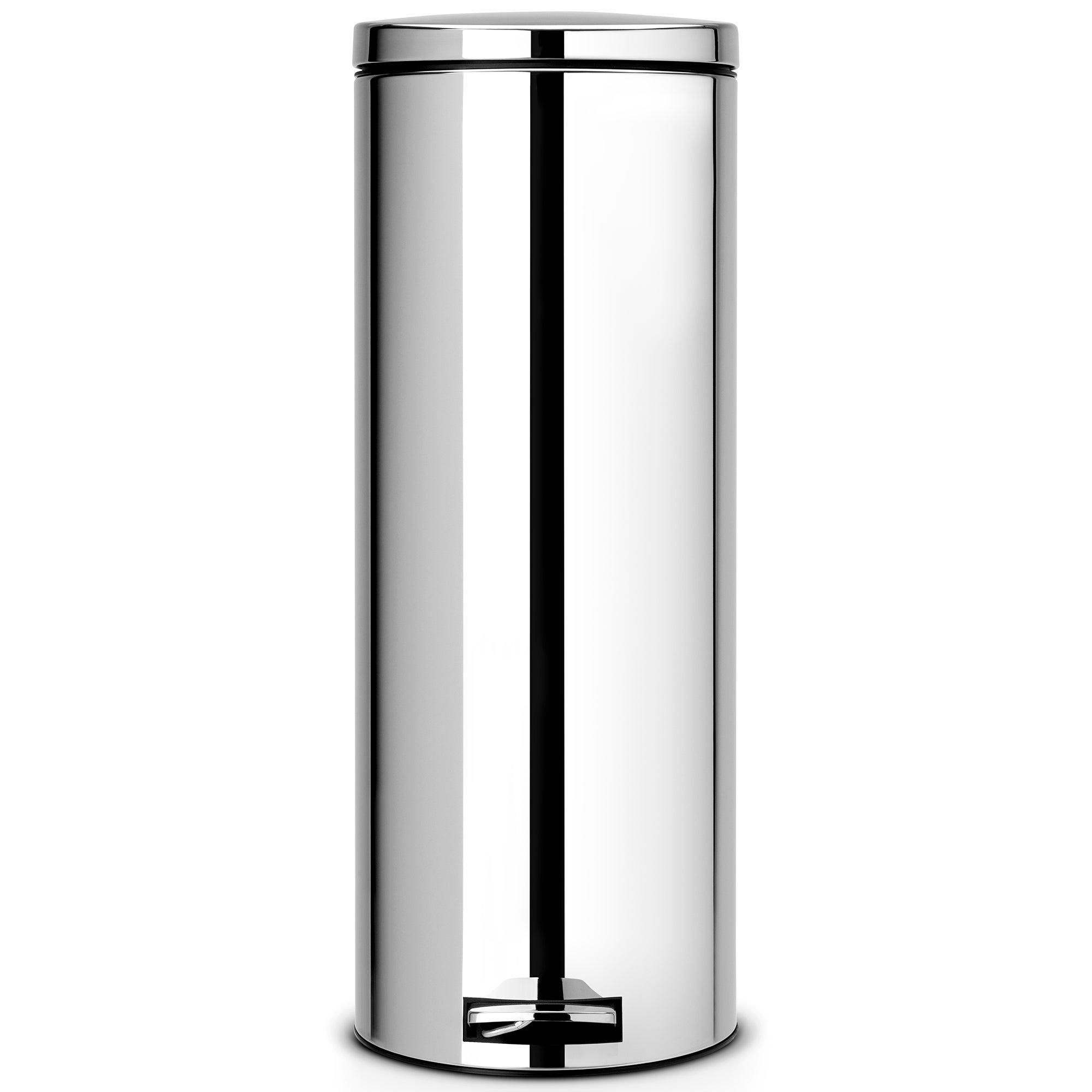 Brabantia Brilliant Steel 20 Litre Slim Pedal Bin