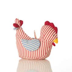 Striped Chicken Doorstop
