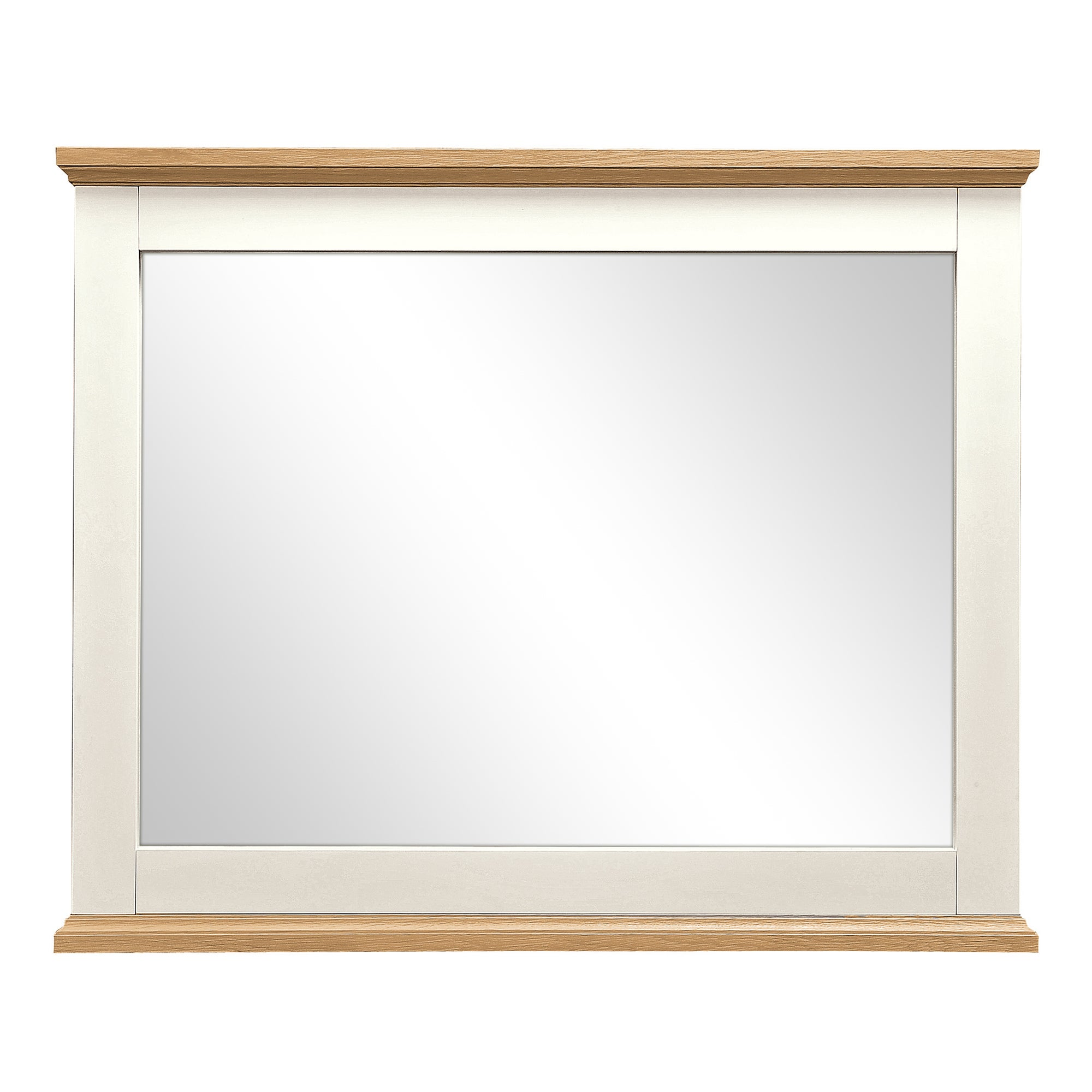 Penzance Oak Two Tone Wide Wall Mirror