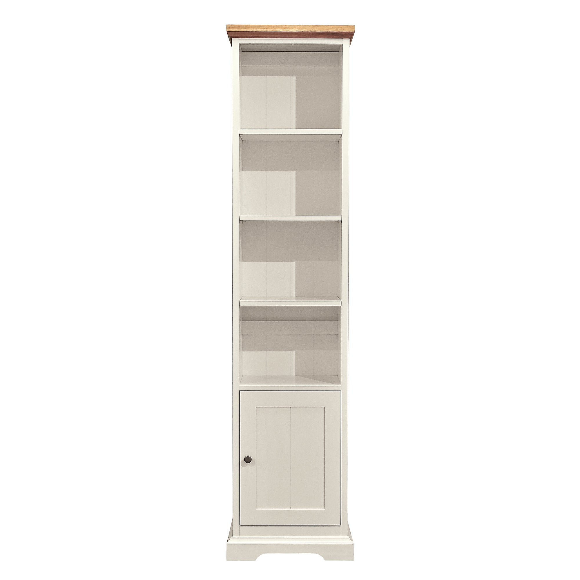 Penzance Oak Two Tone Narrow Bookcase