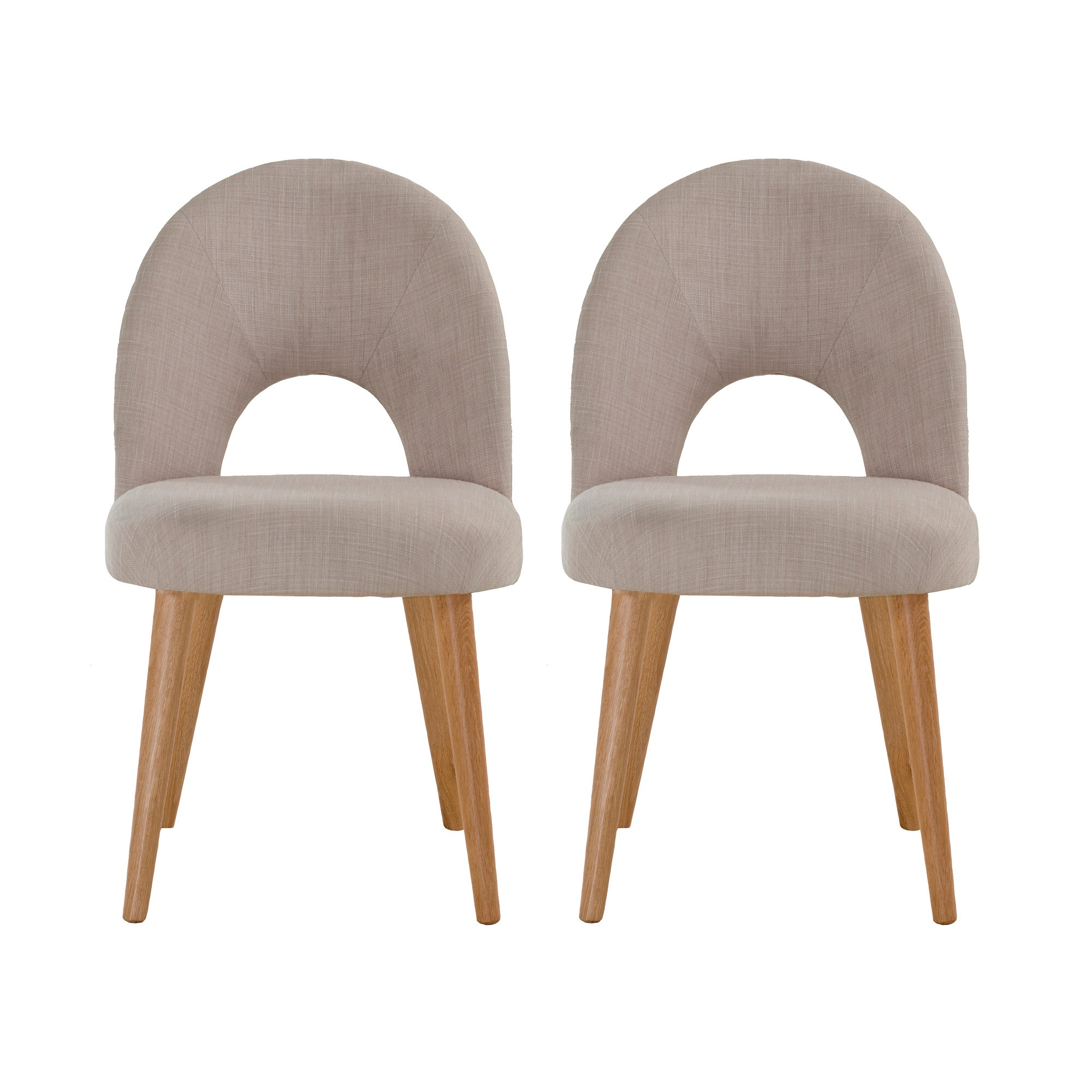 Skandi Oak Pair of Upholstered Chairs