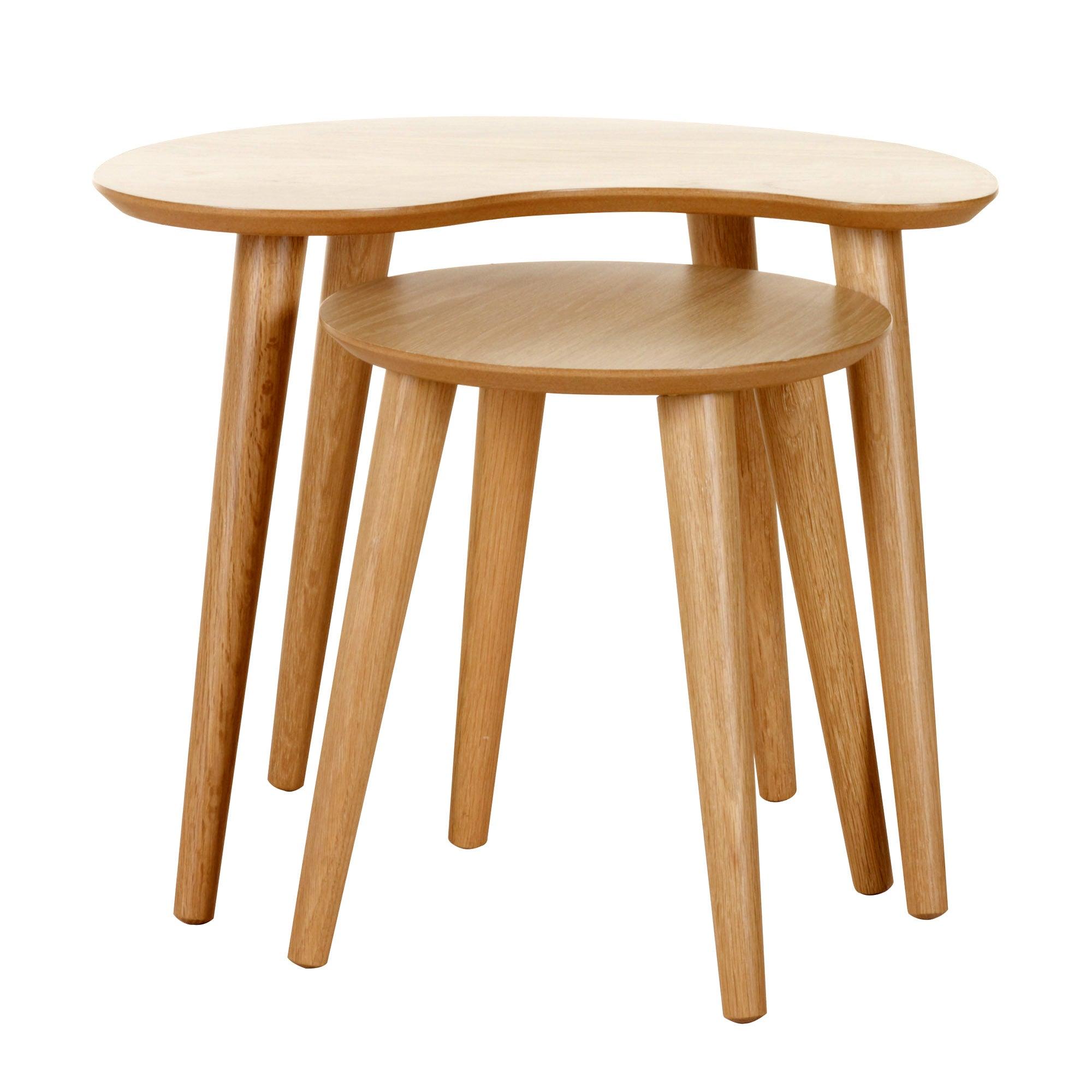 skandi oak nest of lamp tables dunelm. Black Bedroom Furniture Sets. Home Design Ideas