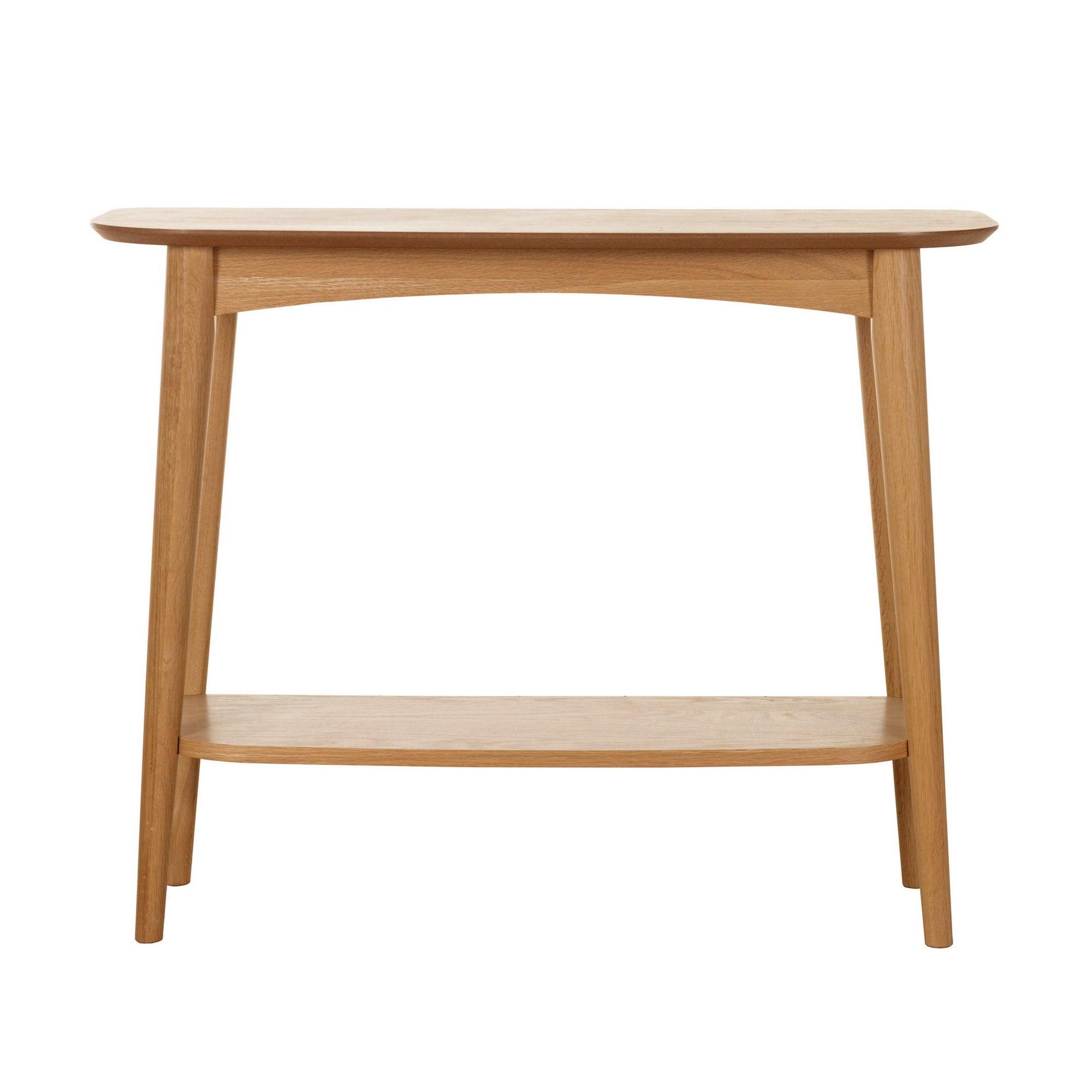 Skandi Oak Console Table with Shelf