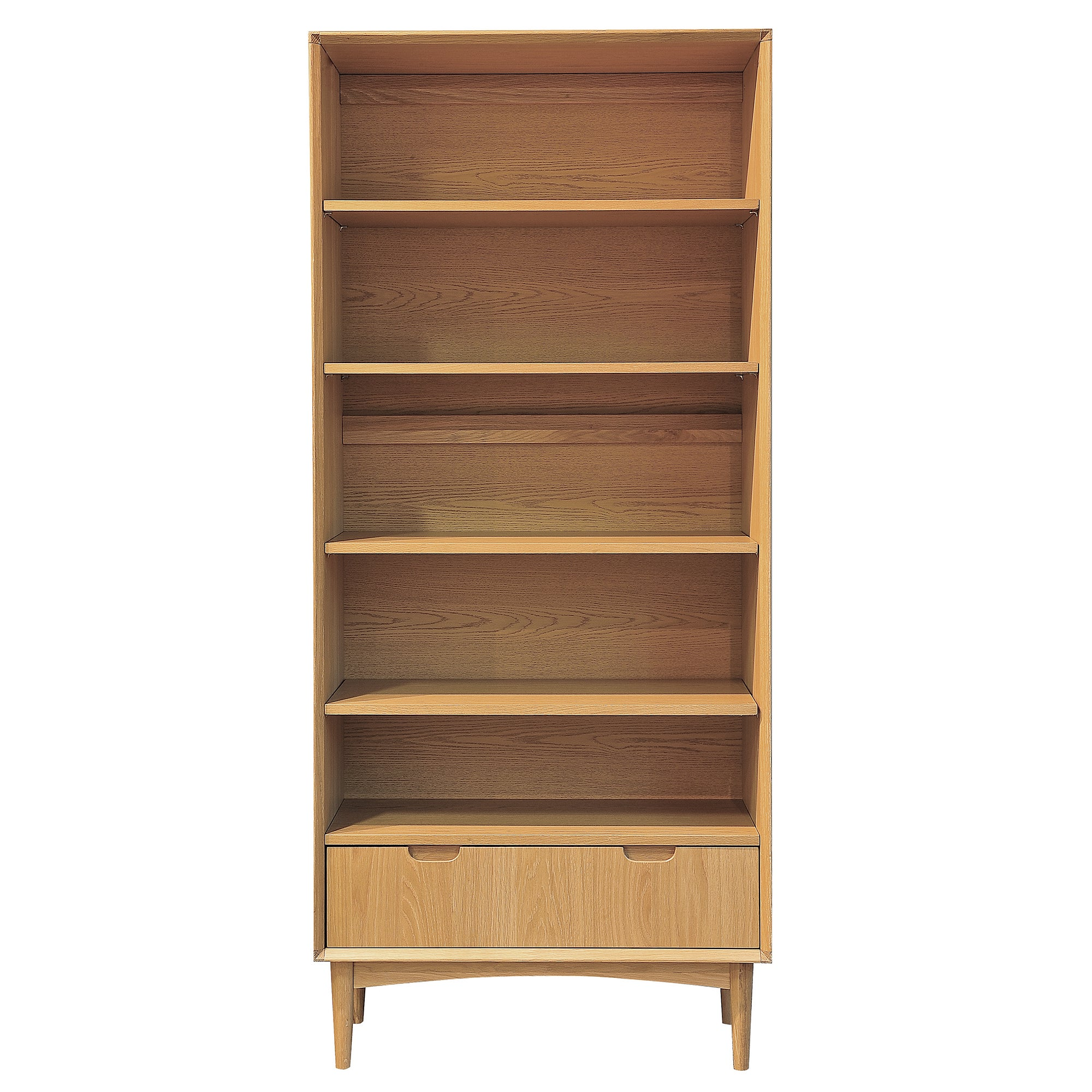 Skandi Oak Wide Bookcase