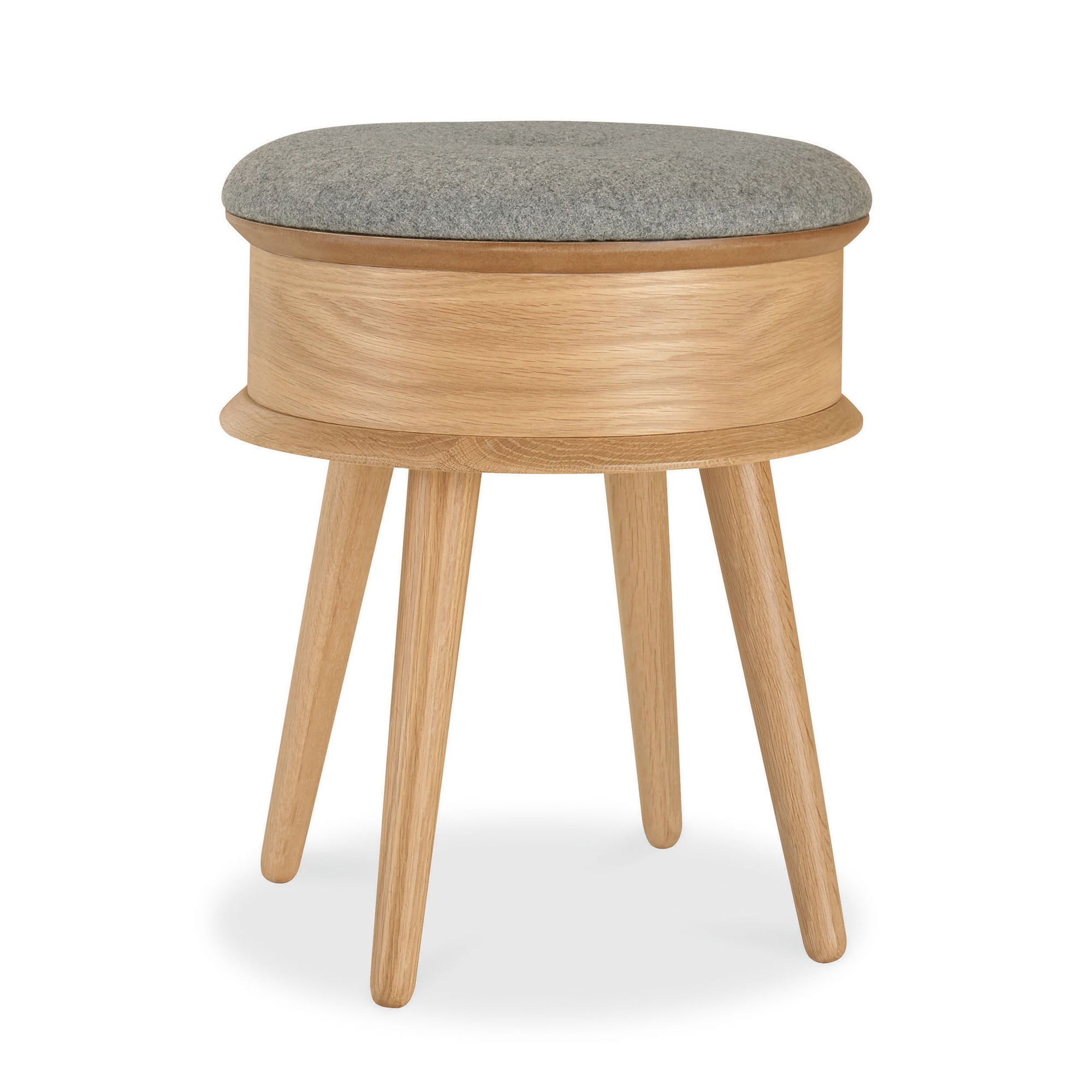 Skandi Oak Storage Stool