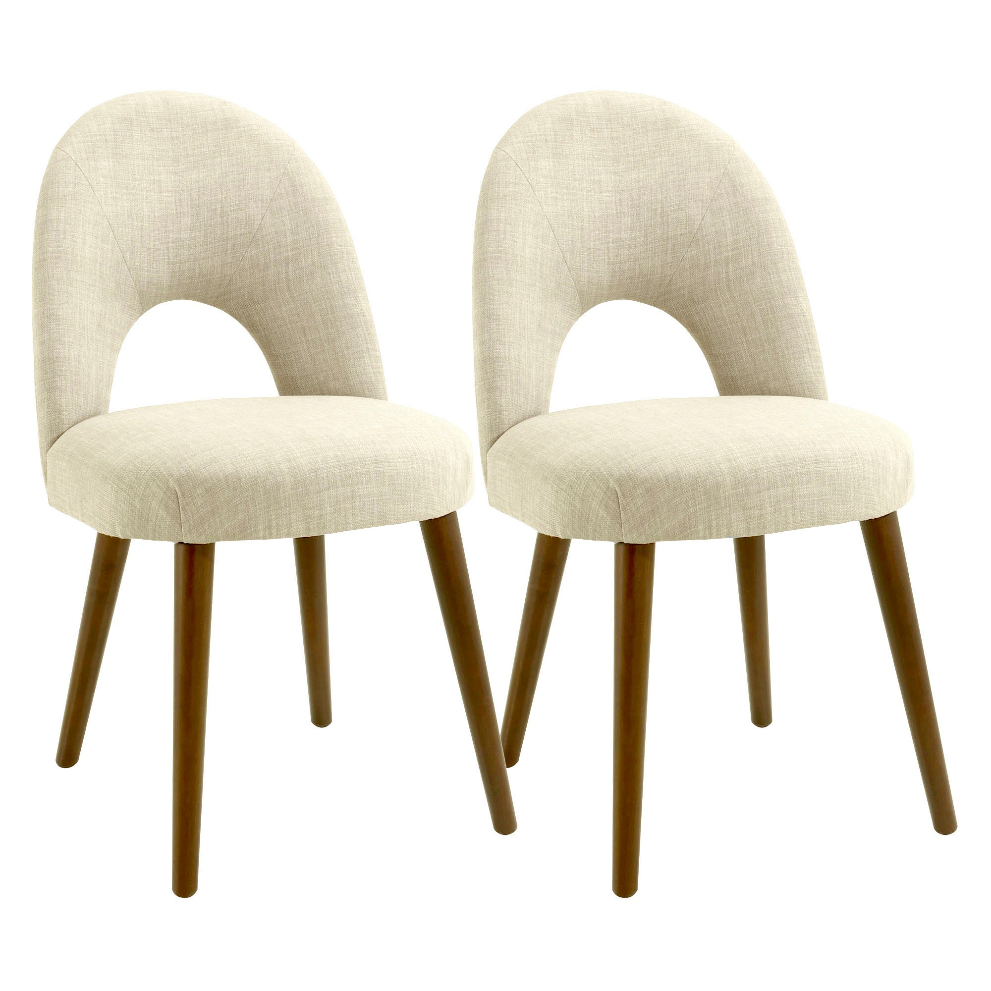 Skandi Walnut Pair of Upholstered Chairs