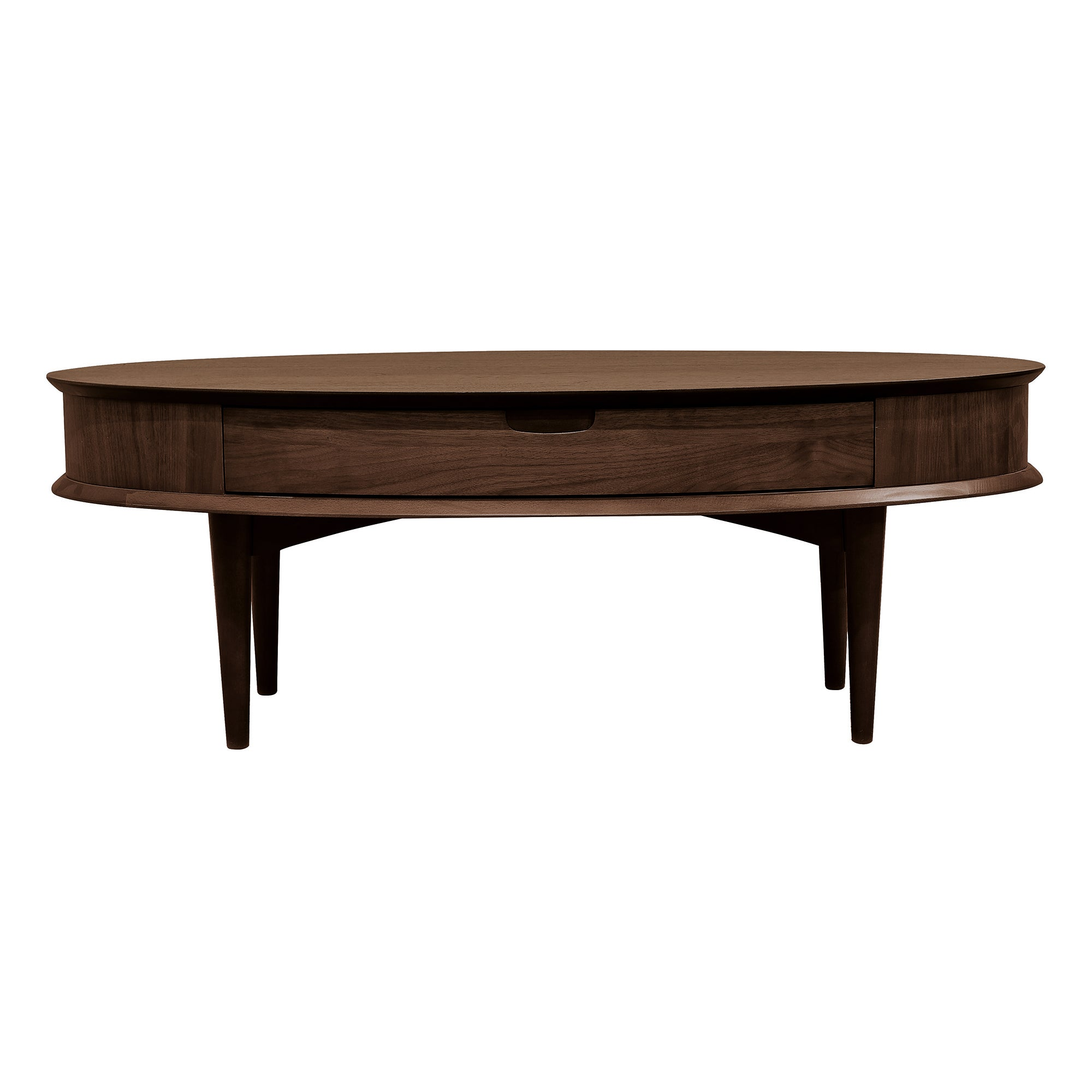 Skandi Walnut Coffee Table with Drawer