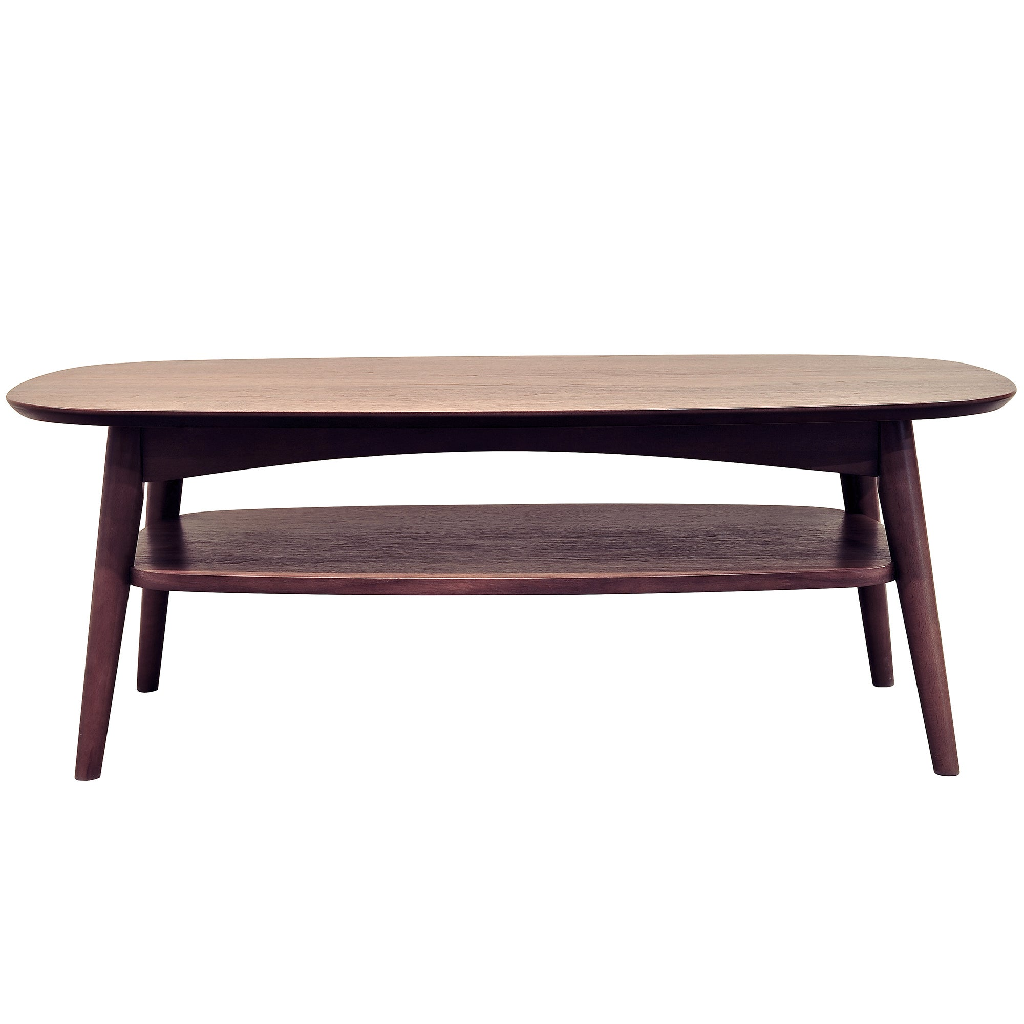 Skandi Walnut Coffee Table with Shelf