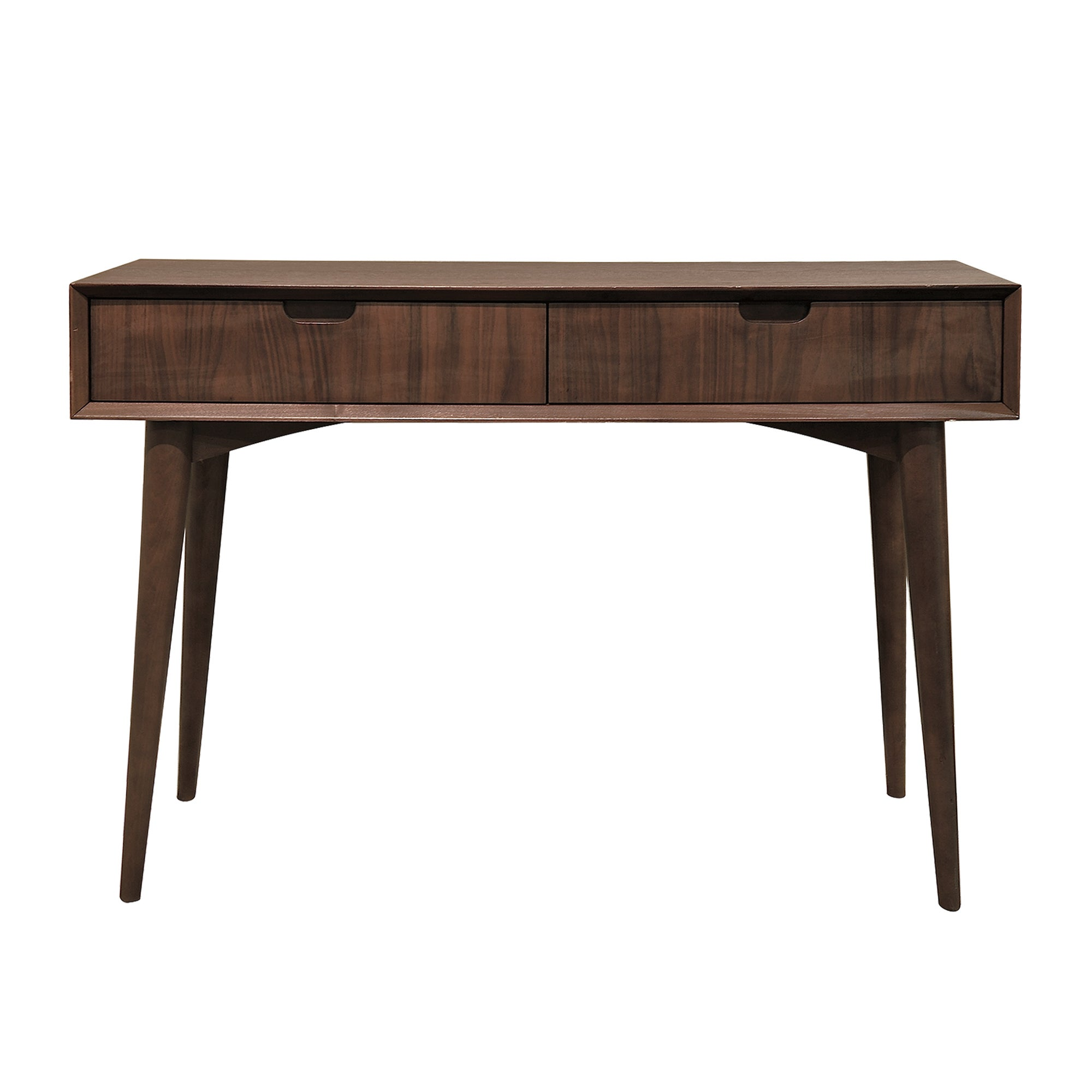 Skandi Walnut Console Table with Drawer