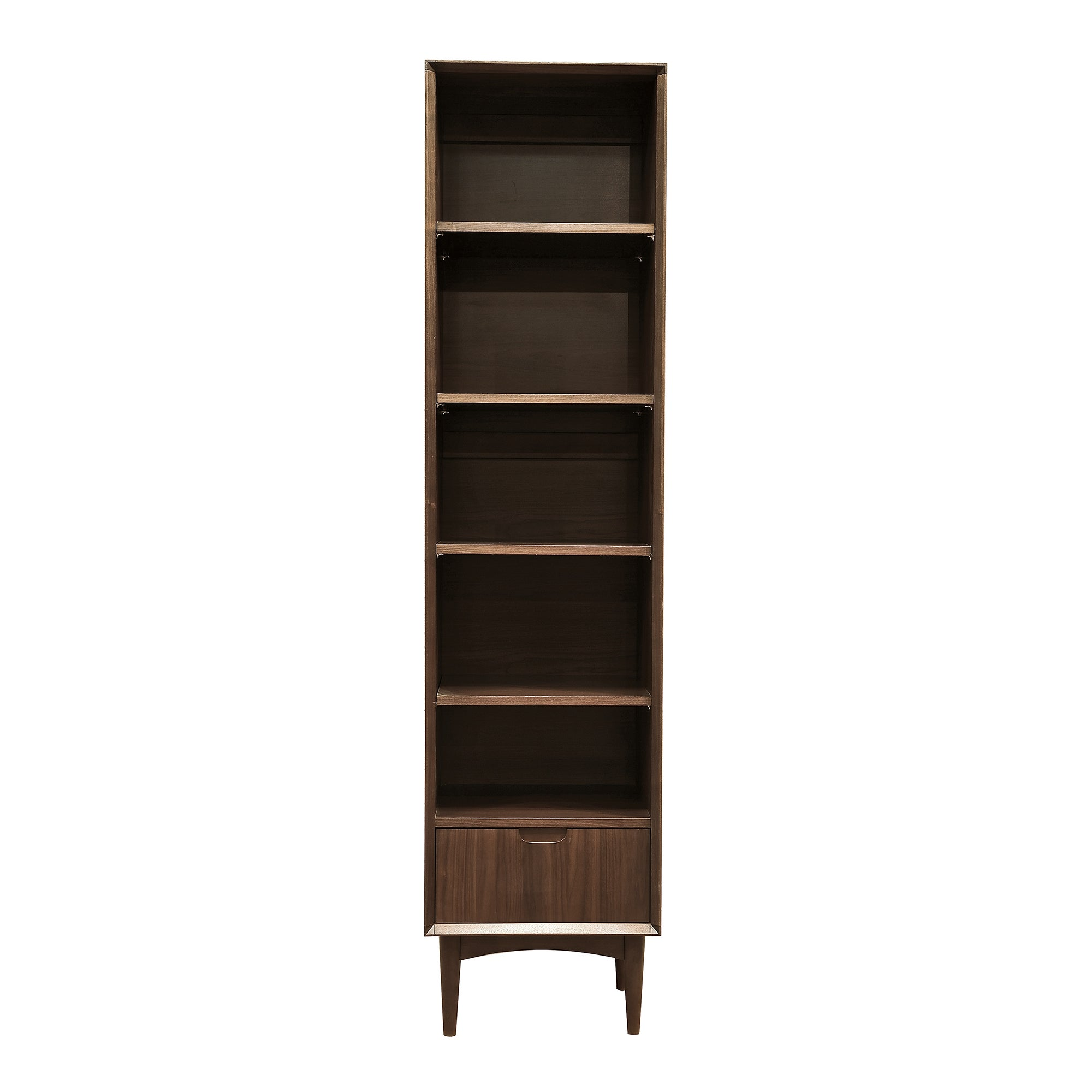 Skandi Walnut Narrow Bookcase