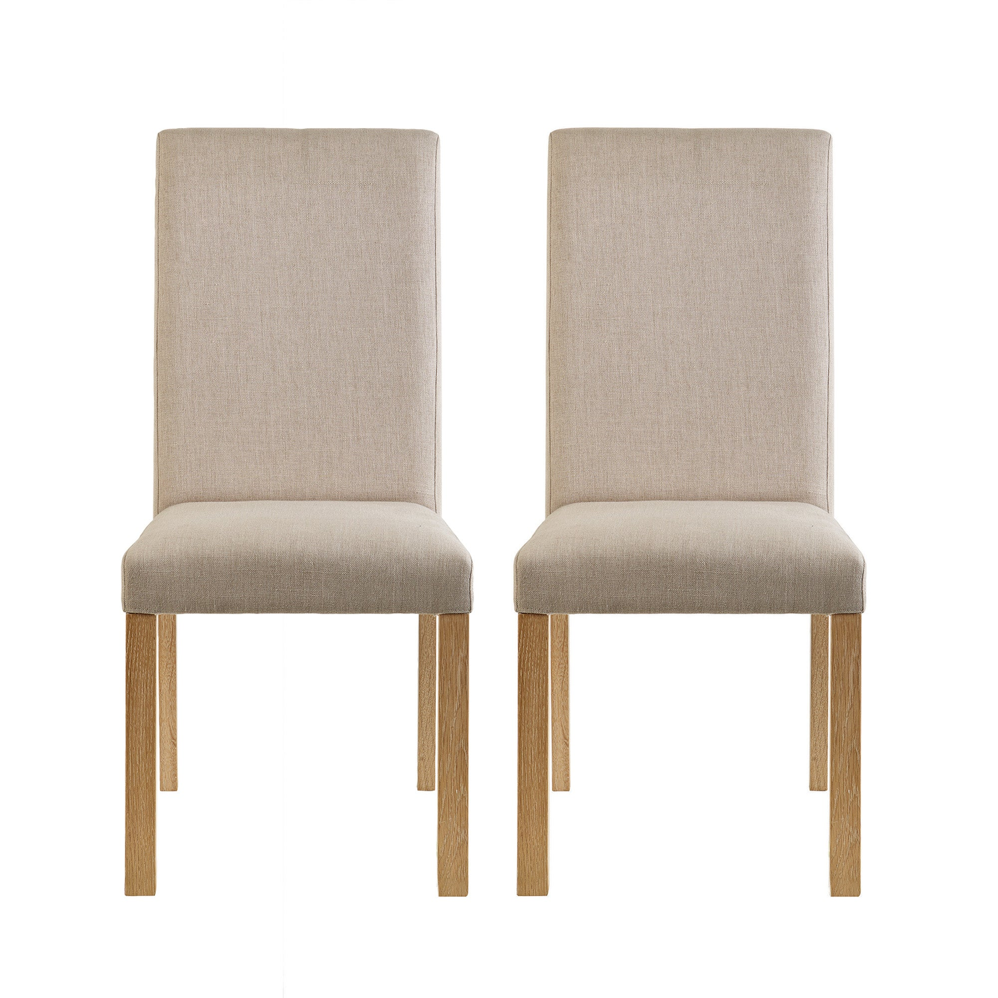 Knox Washed Oak Pair of Upholstered Chairs