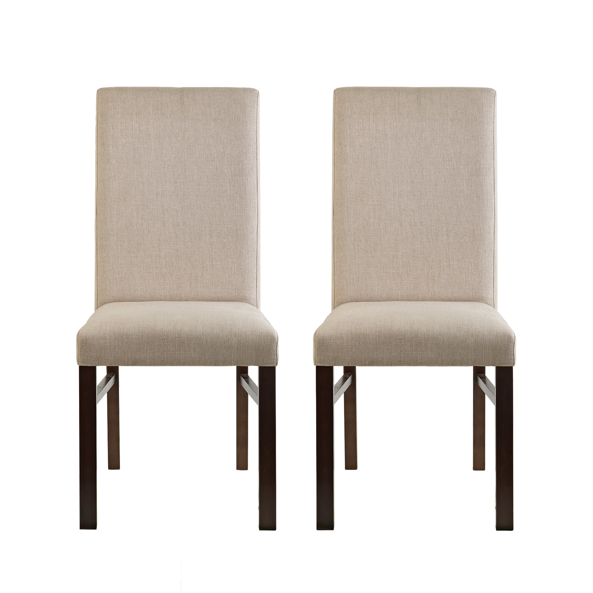 Knox Walnut Pair of Upholstered Dining Chairs