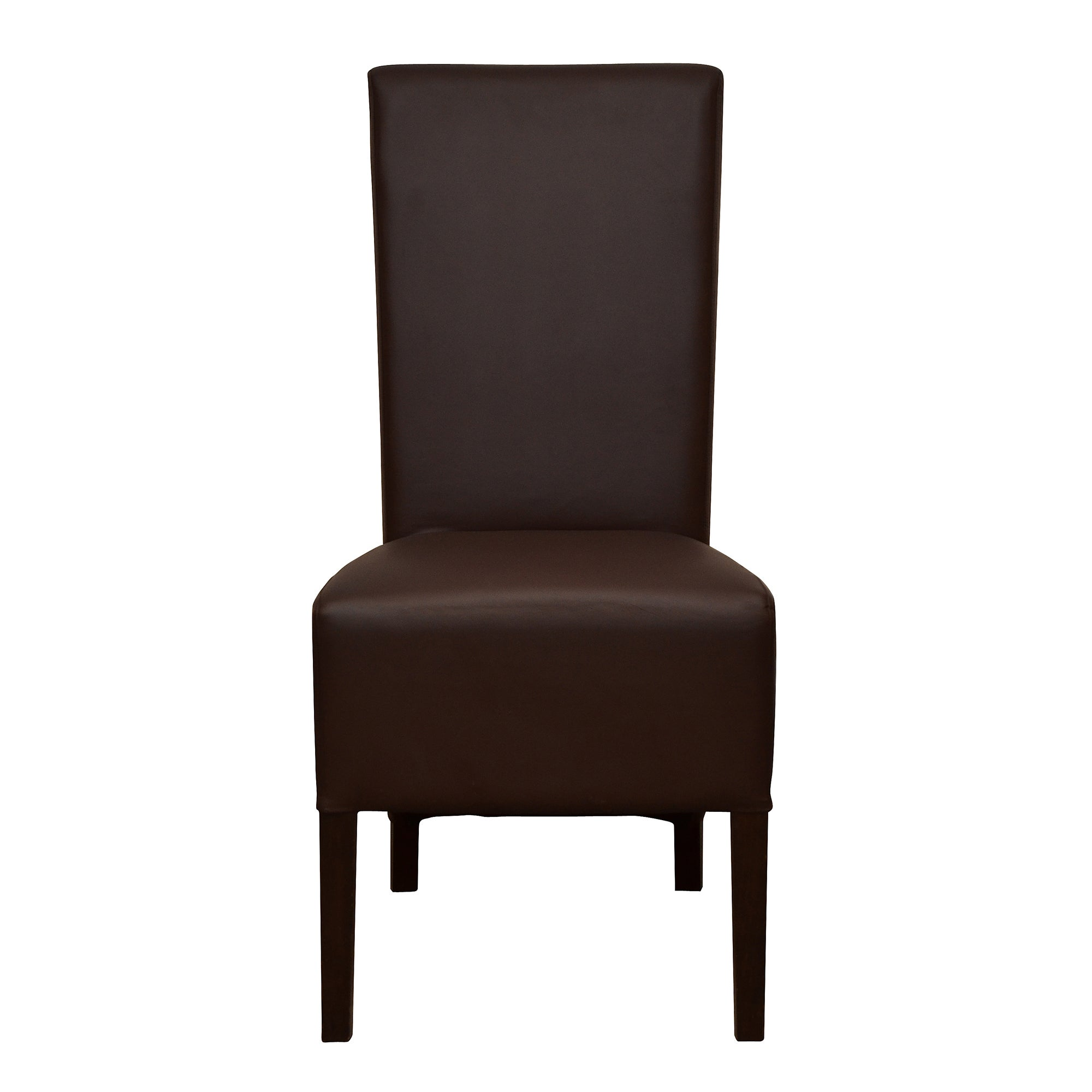 Knox Walnut Pair of Brown Wing Back Chairs