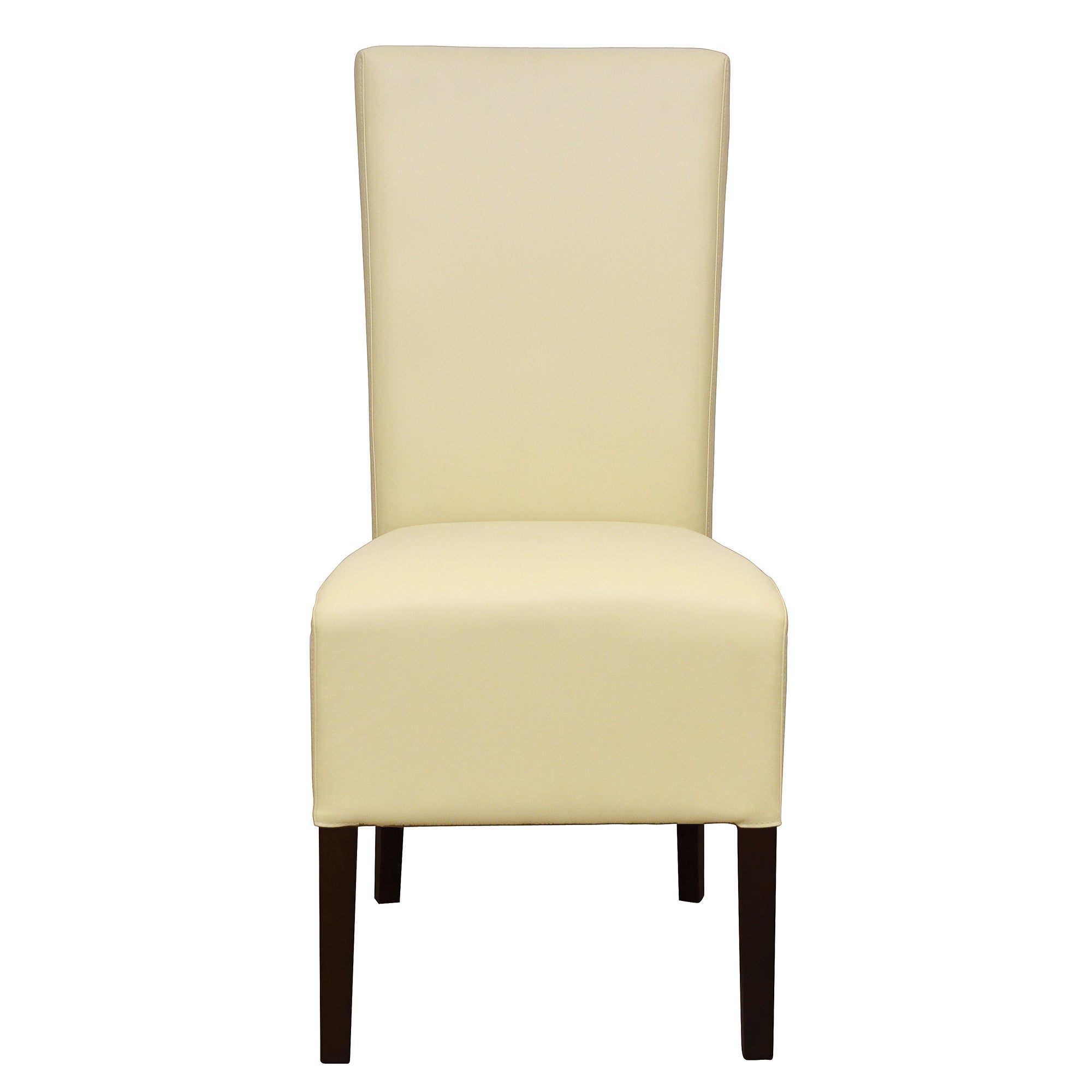 Knox Walnut Pair of Ivory Wing Back Chairs