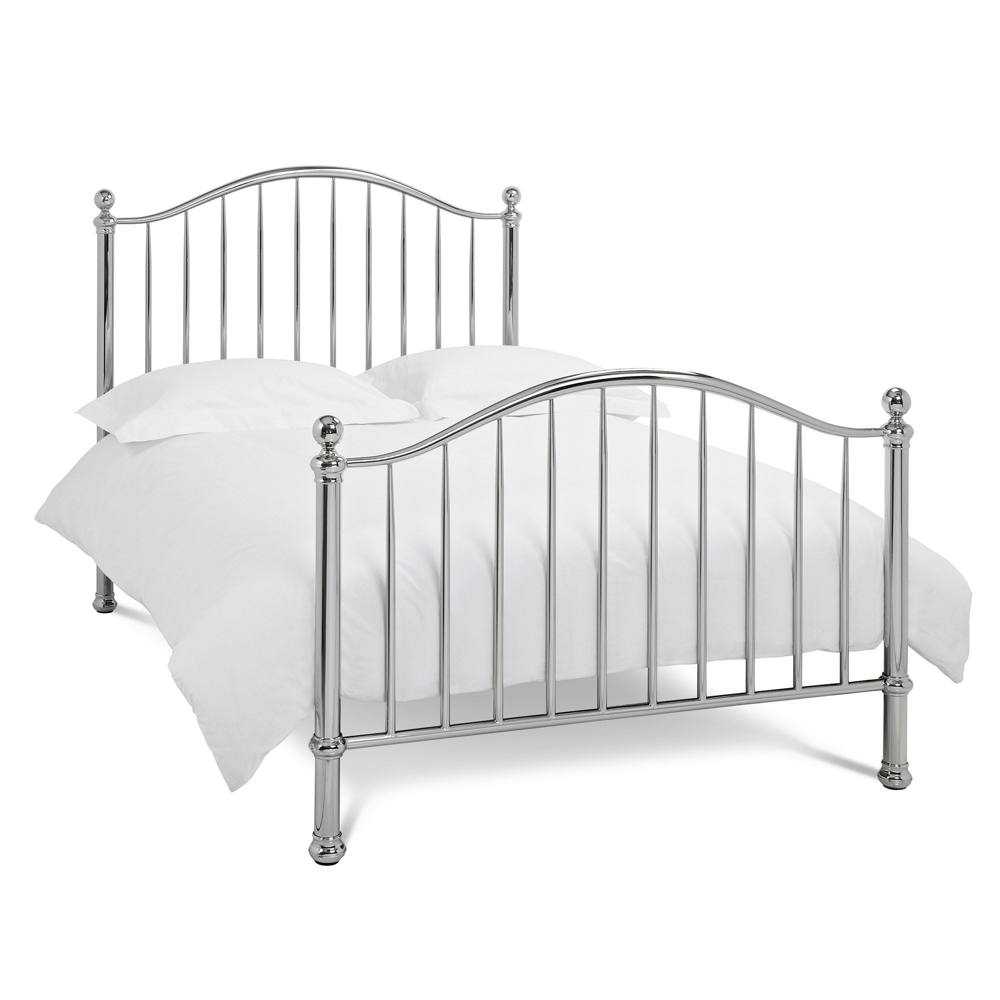 Evelyn Mirrored Nickel Bedstead