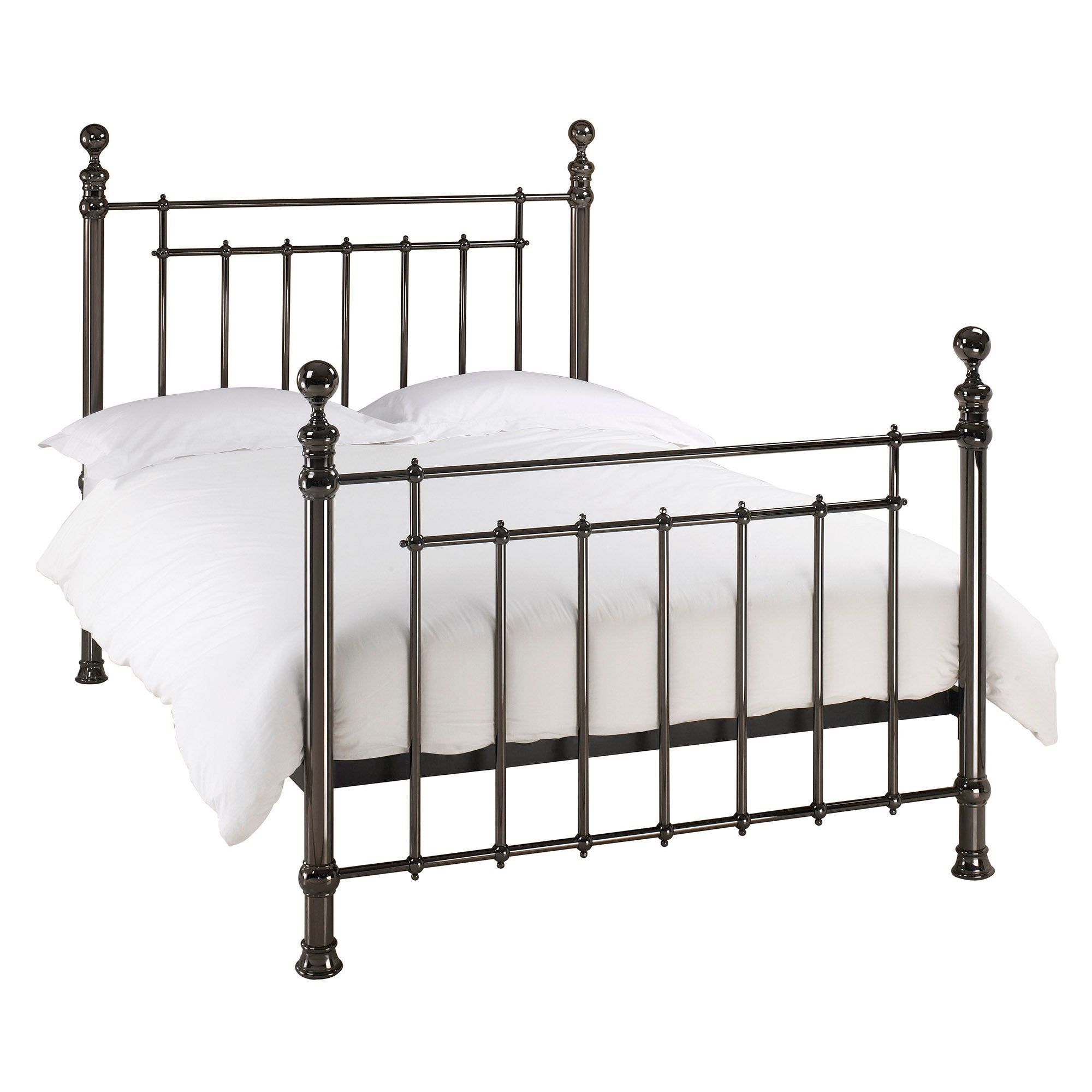 Anya Black Nickel Bedstead