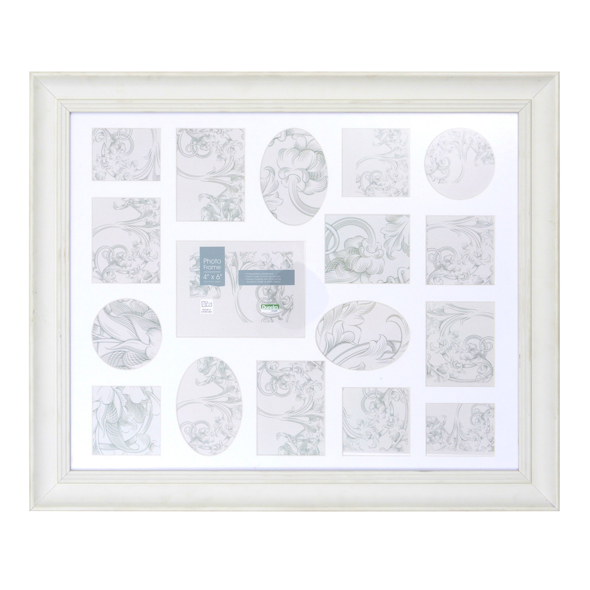 Cream Smooth 17 Aperture Photo Frame