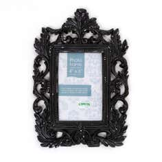Black Roccoco Rectangular Photo Frame