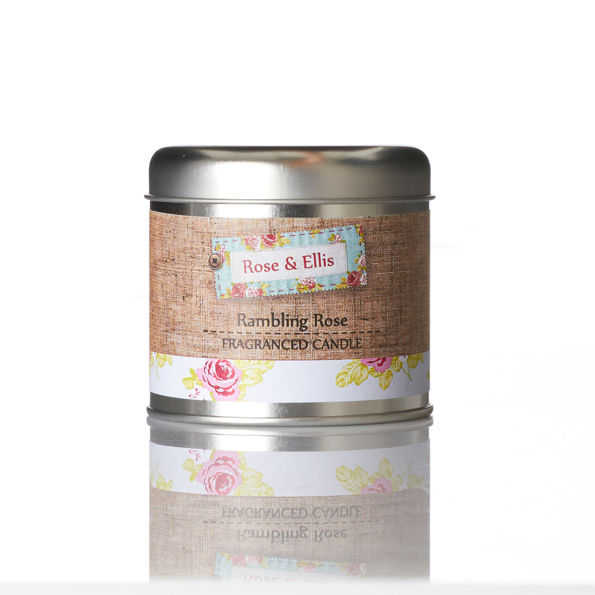 Wax Lyrical Rose and Ellis Collection Rambling Rose Candle Tin