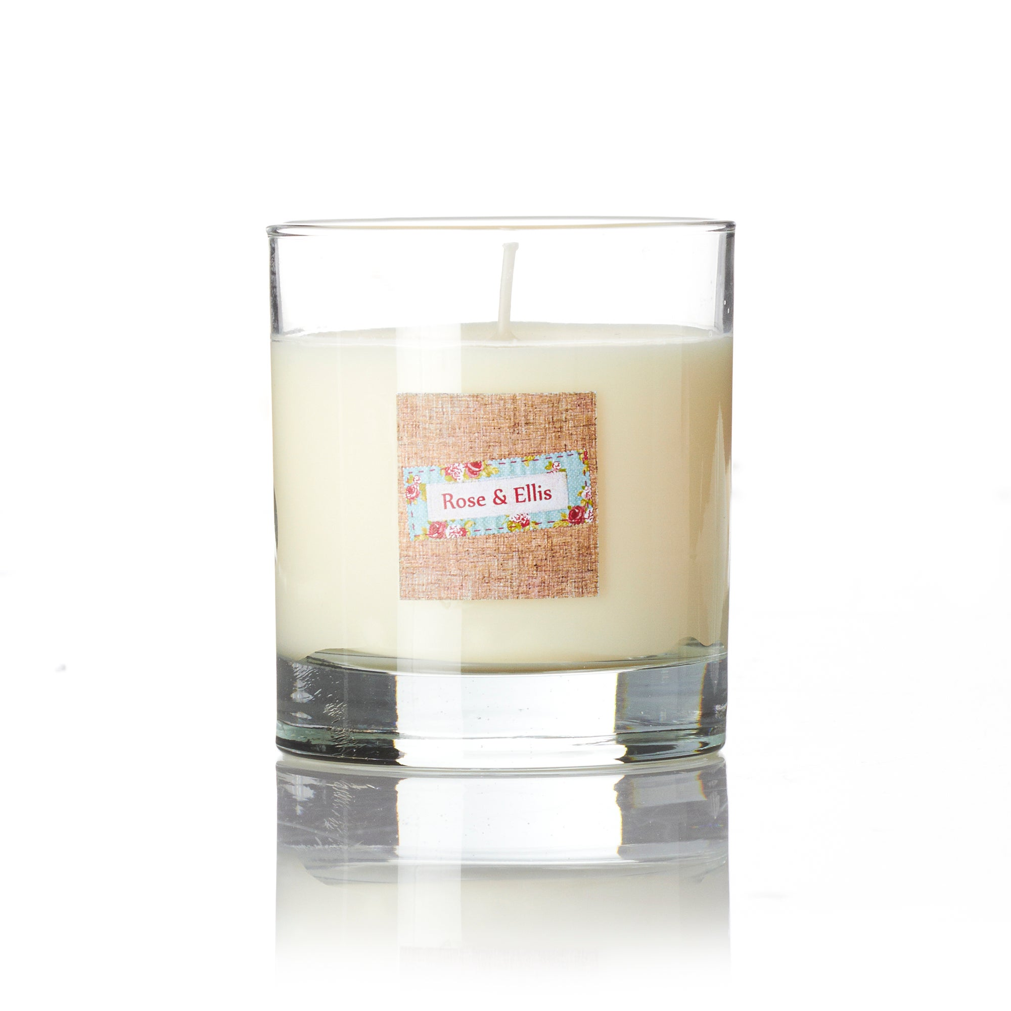 Wax Lyrical Rose and Ellis Collection Lily and Violet Glass Candle
