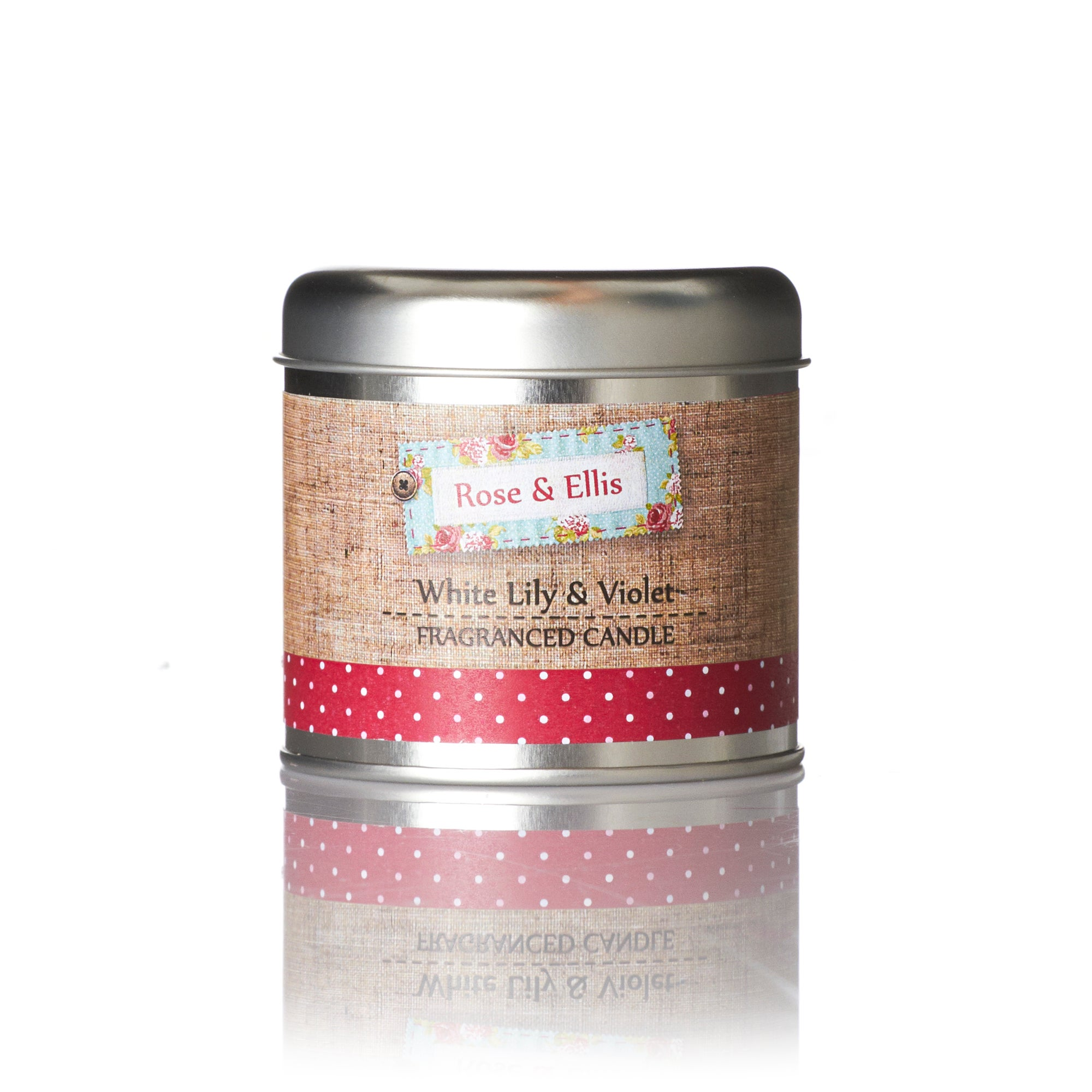 Wax Lyrical Rose and Ellis Collection Lily and Violet Candle Tin