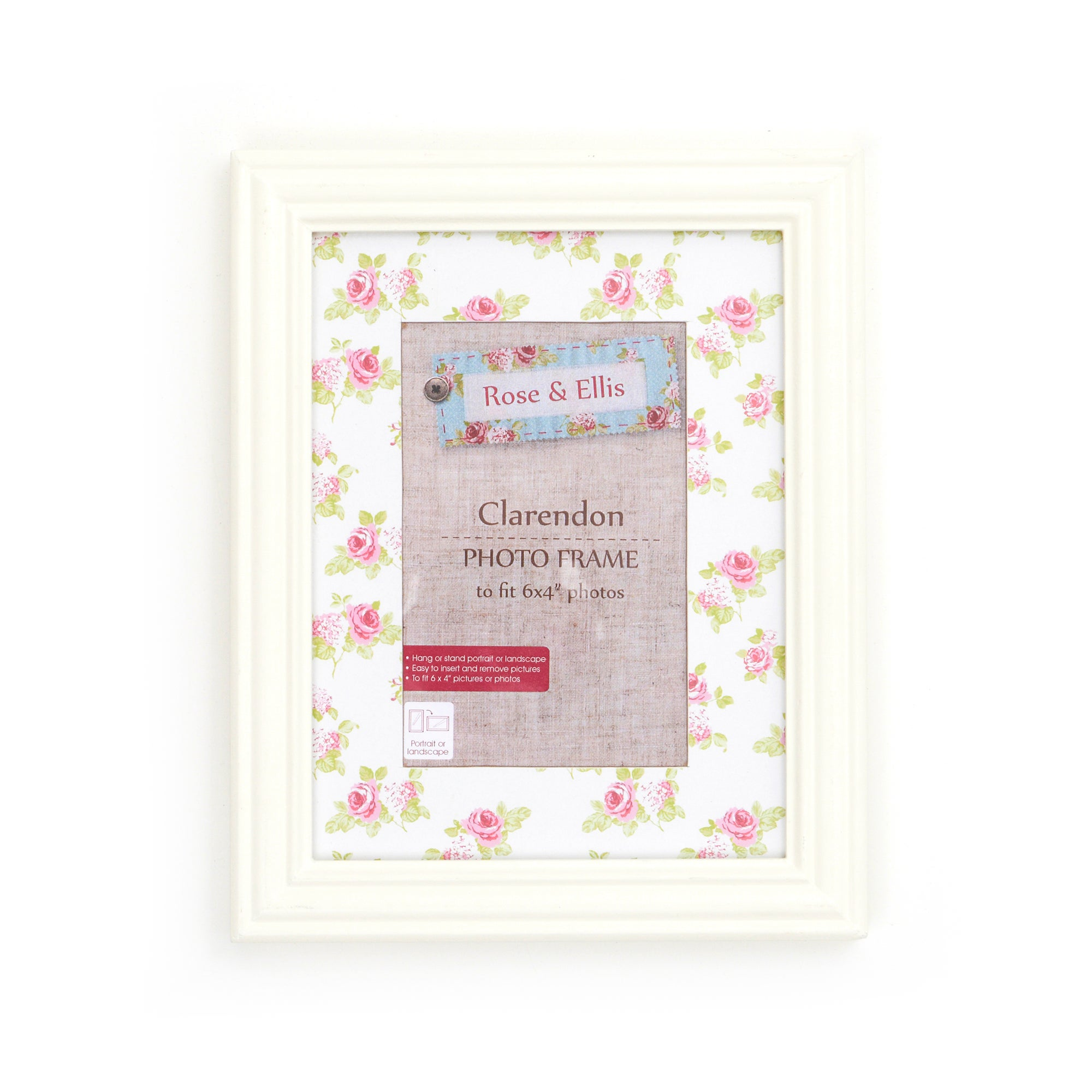 Rose and Ellis Clarendon Collection Small Photo Frame