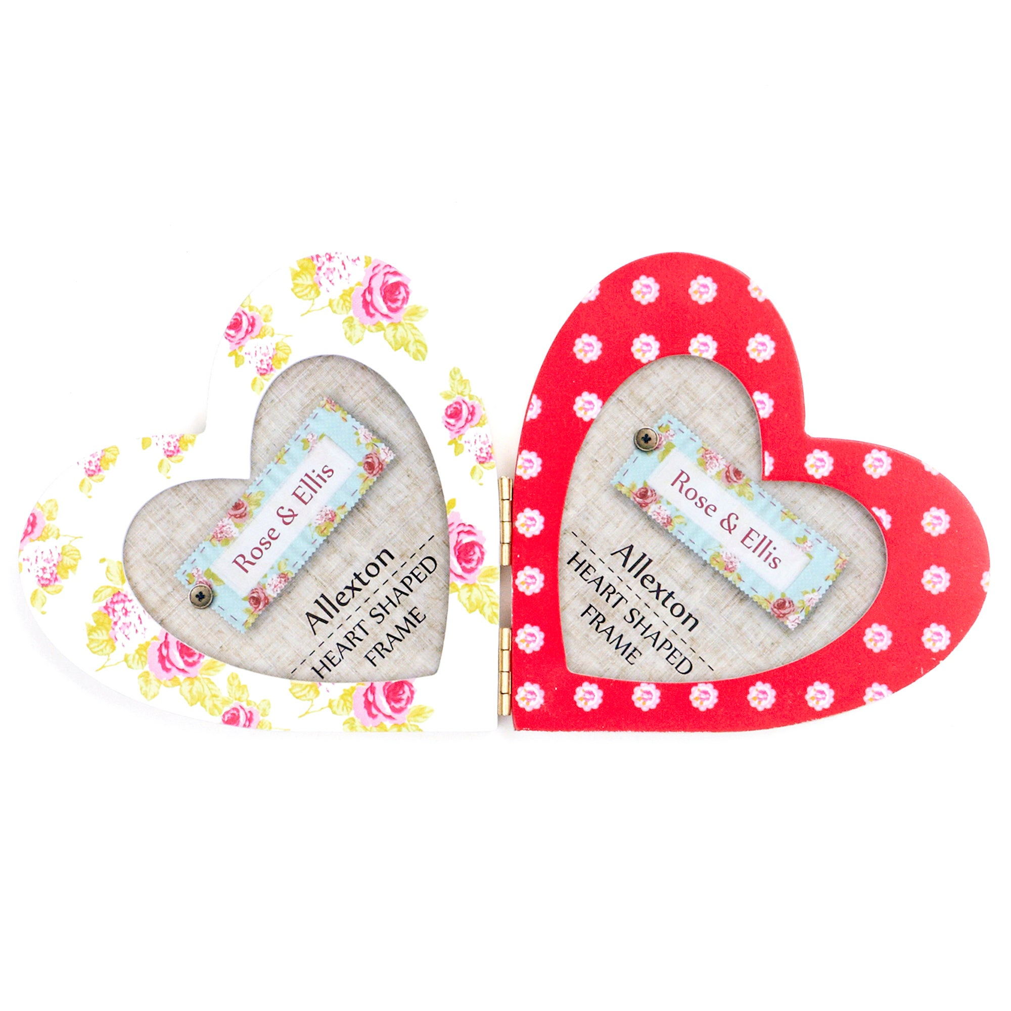 Rose and Ellis Allexton Collection 2 Aperture Heart Shaped Photo Frame