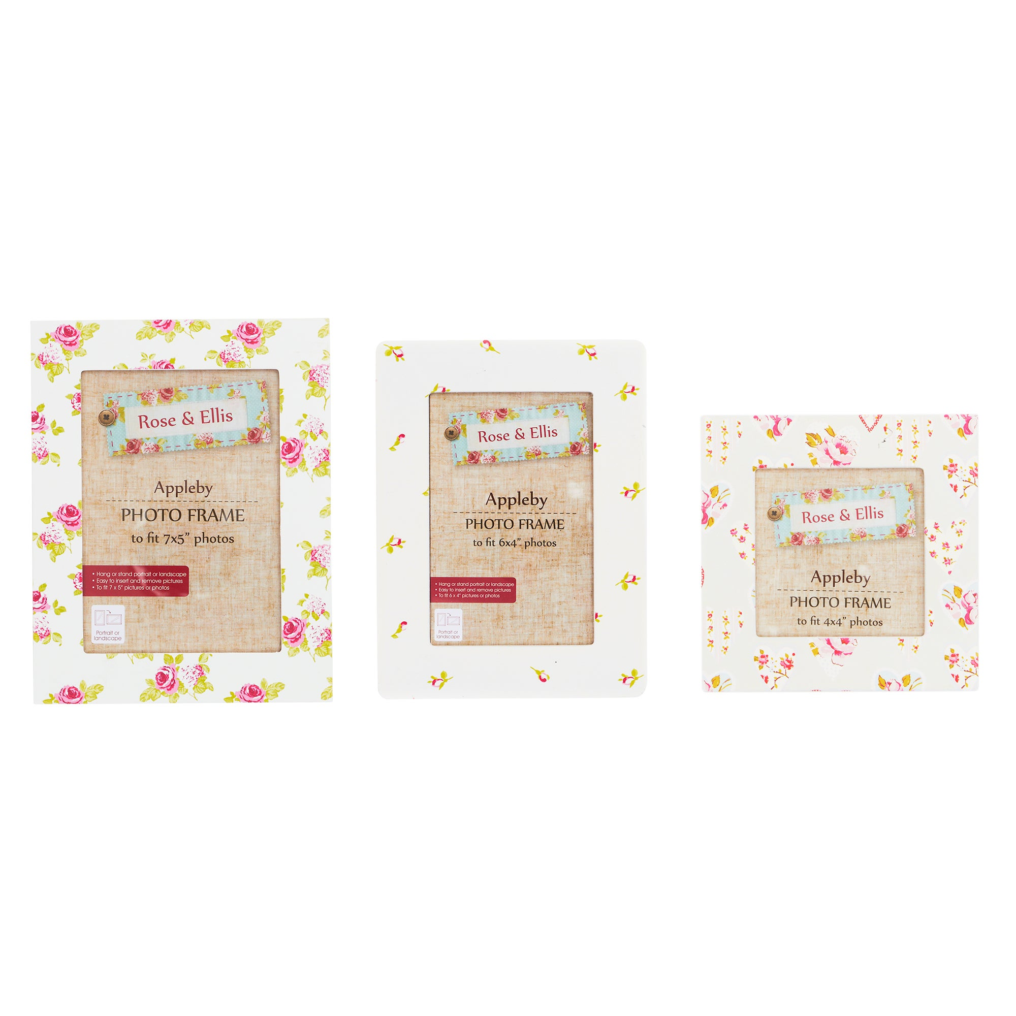 Rose and Ellis Appleby Collection Set of 3 Photo Frames