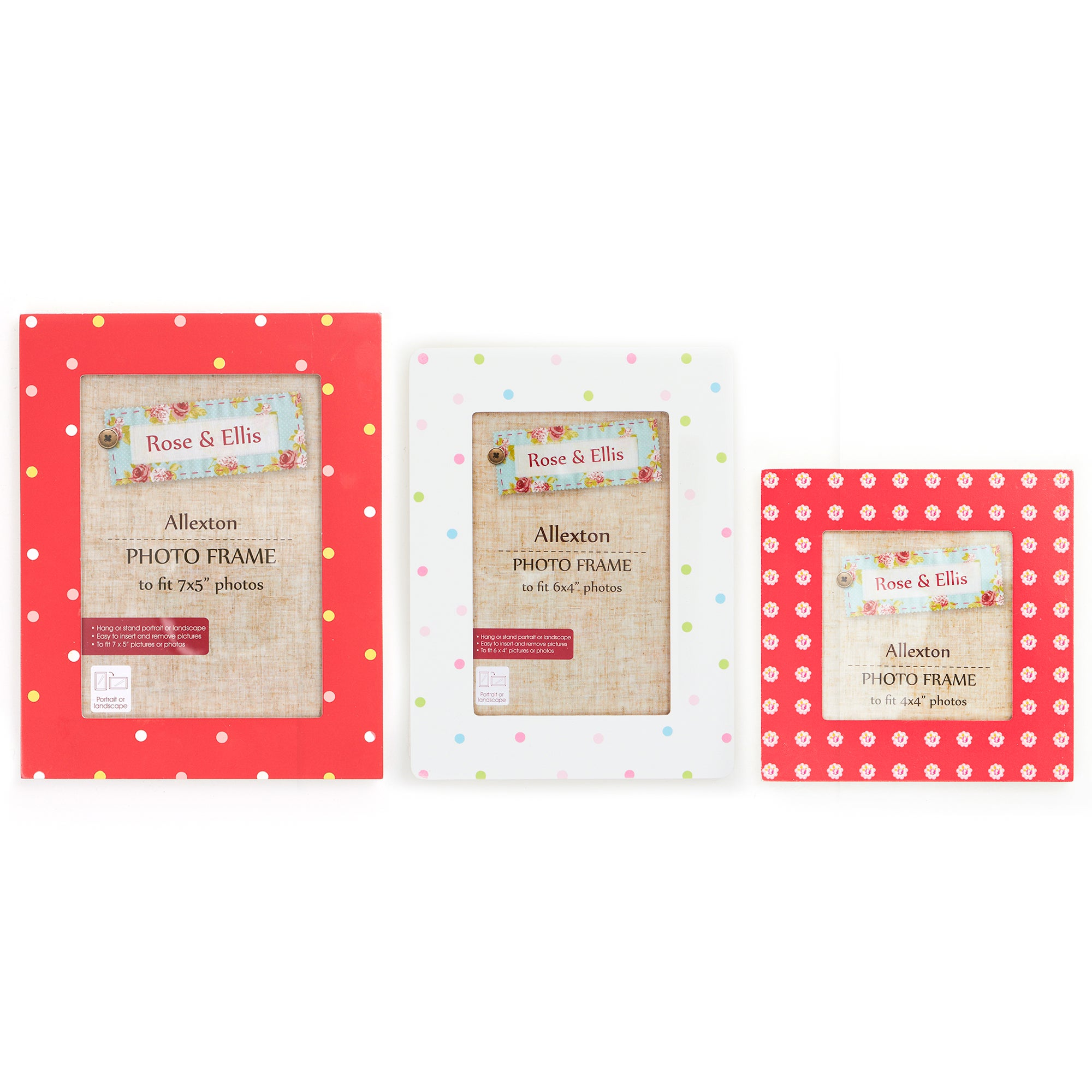 Rose & Ellis Allexton Collection Photo Frames