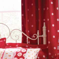 Rose and Ellis Allexton Lined Eyelet Curtains
