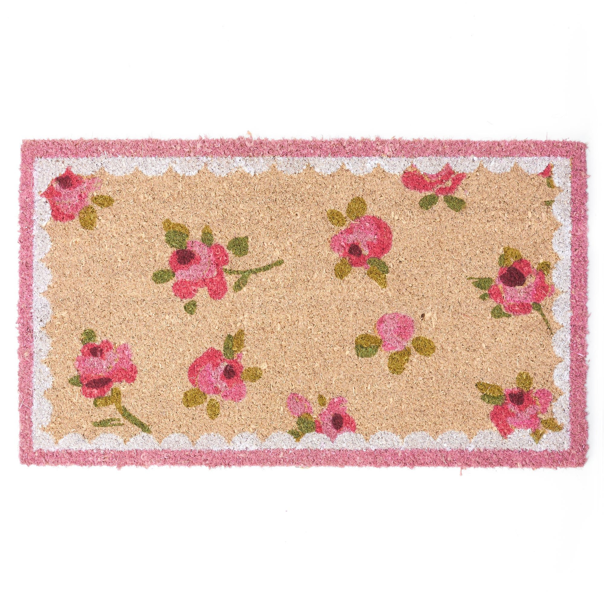 Rose and Ellis Allexton Collection Rosebud Coir Doormat