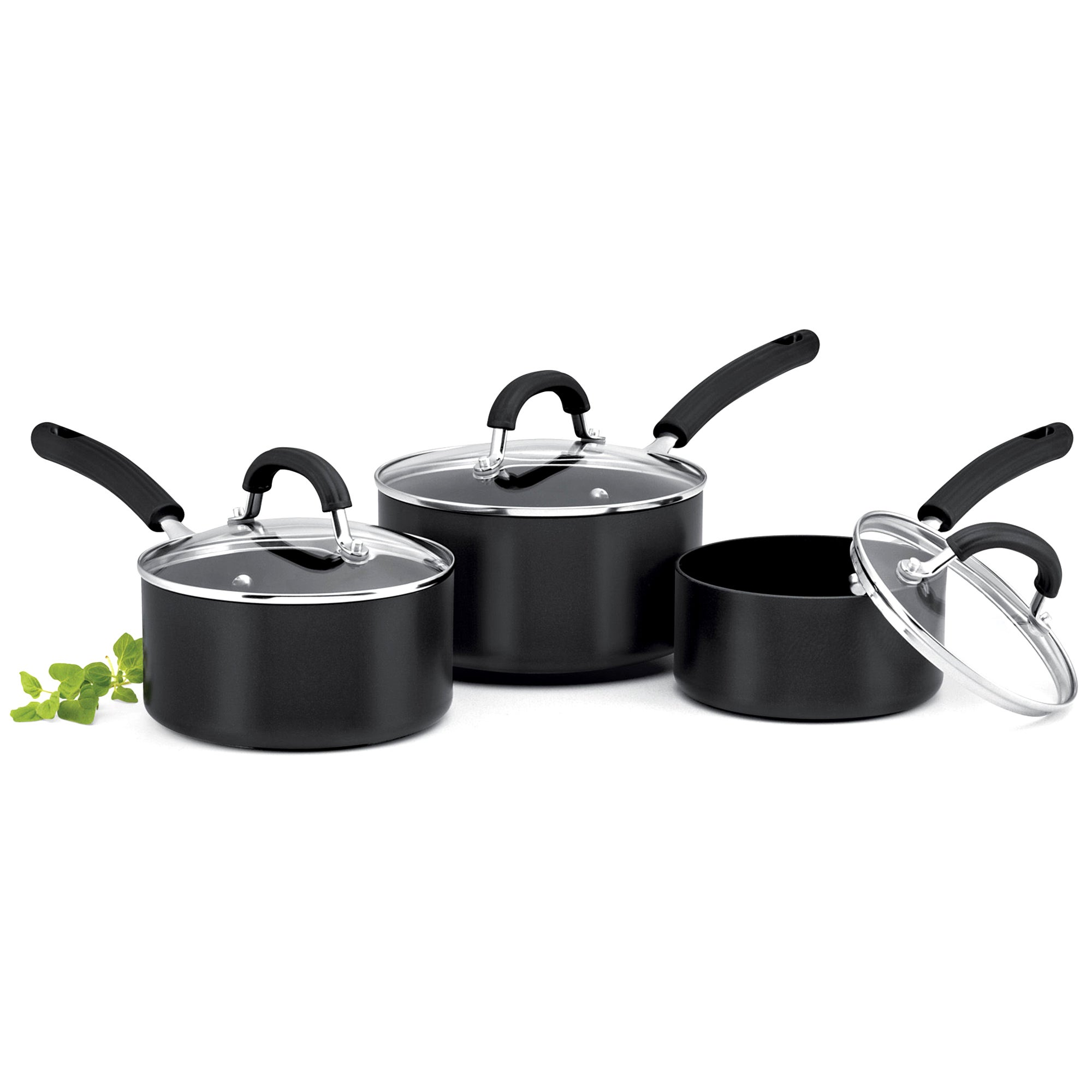Circulon Origins Set of 3 Hard Anodised Aluminium Saucepans